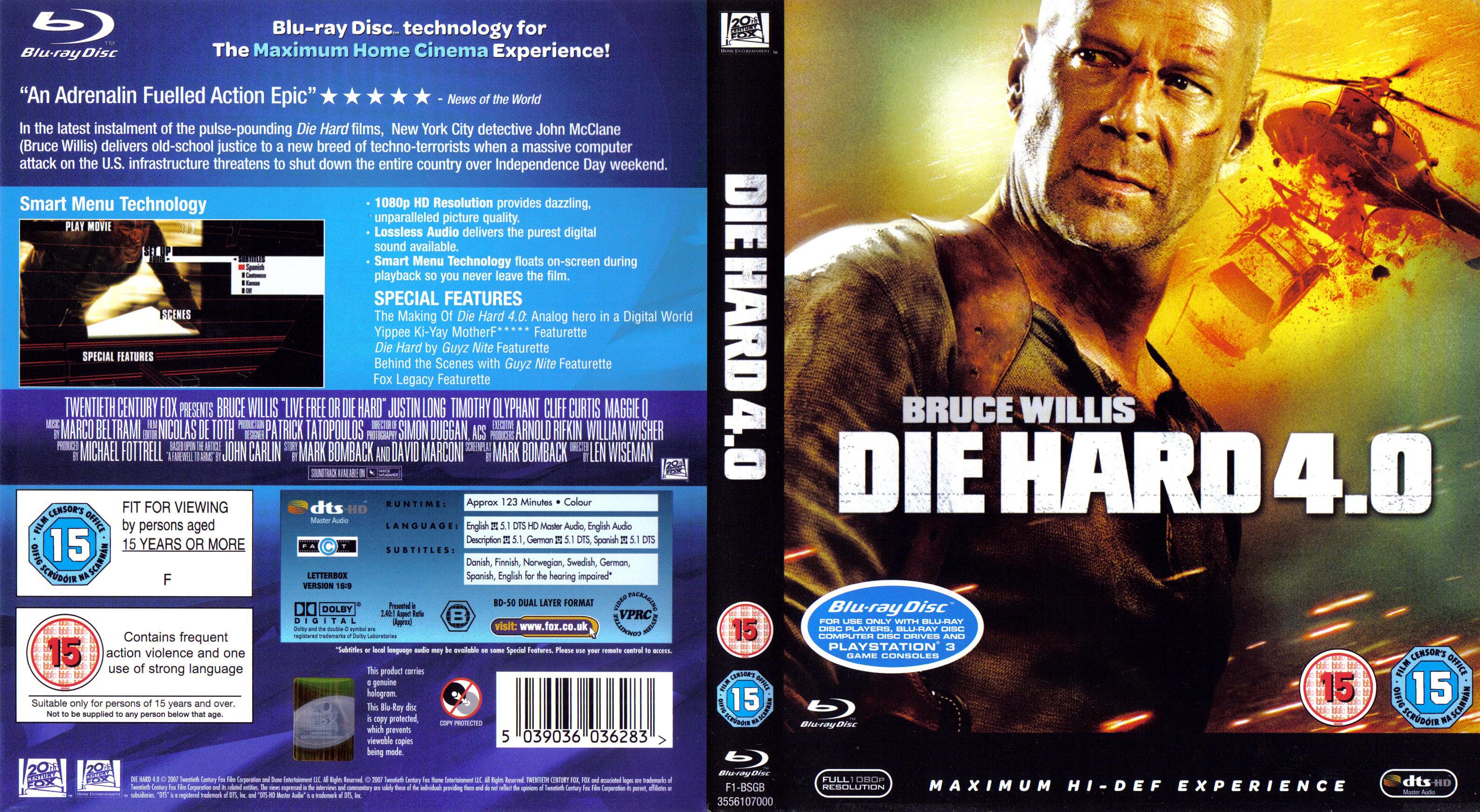 Die Hard 4.0 - Live Free Or Die Hard Blu-Ray Film → Køb ...