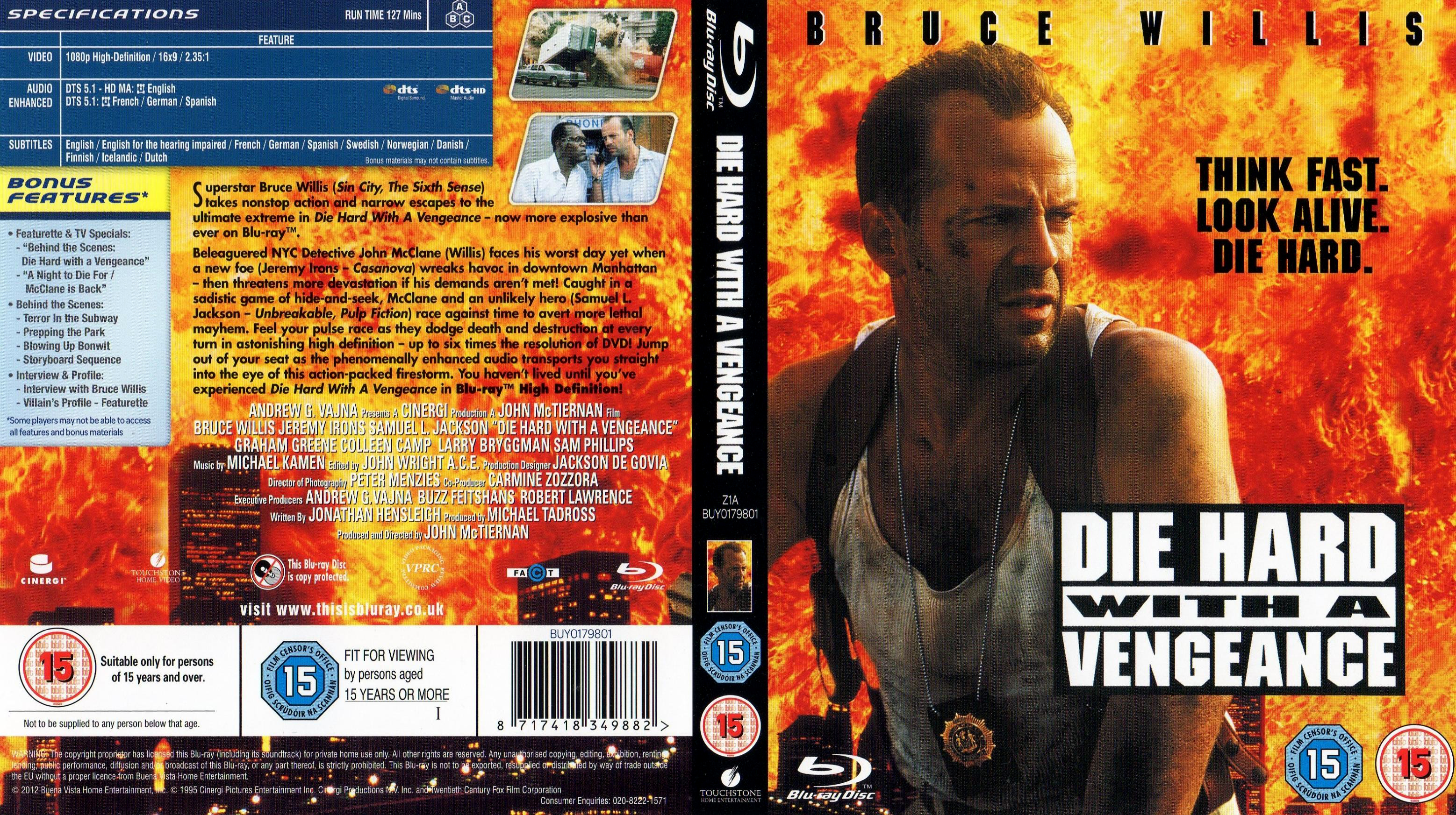 Covers Box Sk Die Hard 3 With A Vengeance 1995 Blu Ray High Quality Dvd Blueray Movie