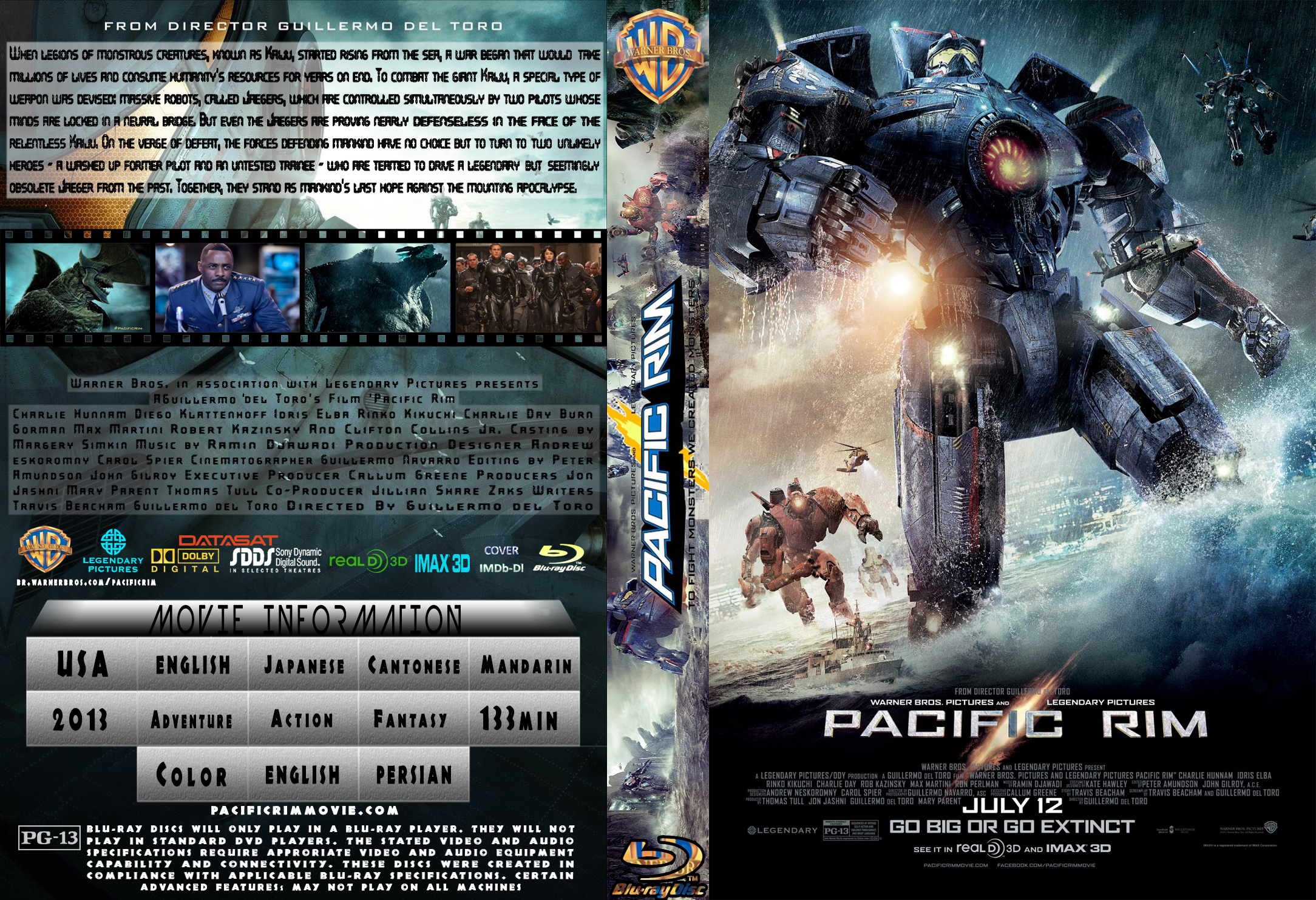 COVERS.BOX.SK ::: Pacific Rim 2013 [ IMDB-DL ] - high ... Pacific Rim Blu Ray Cover