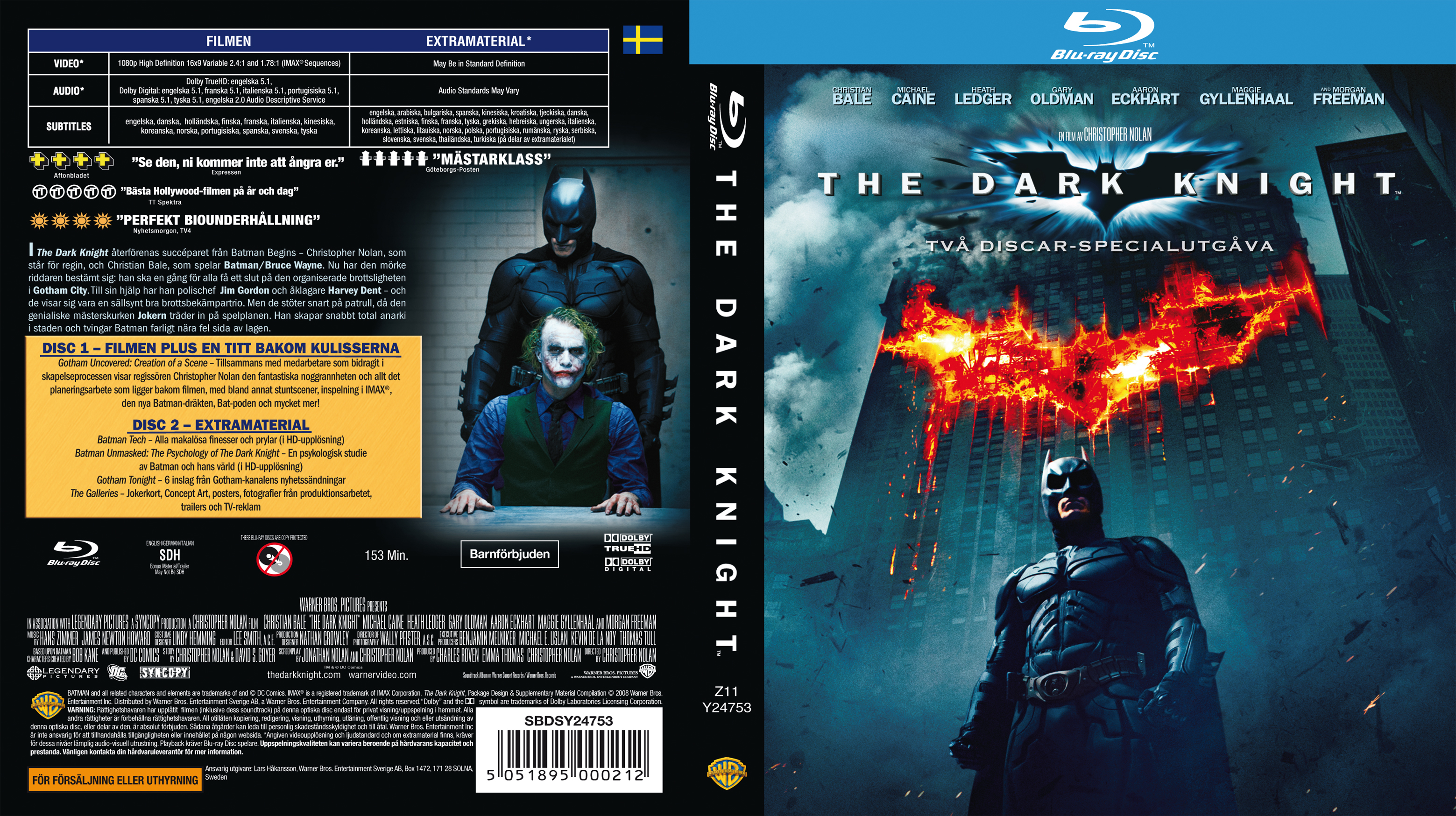 covers box sk the dark knight blu ray 2008 high. Black Bedroom Furniture Sets. Home Design Ideas