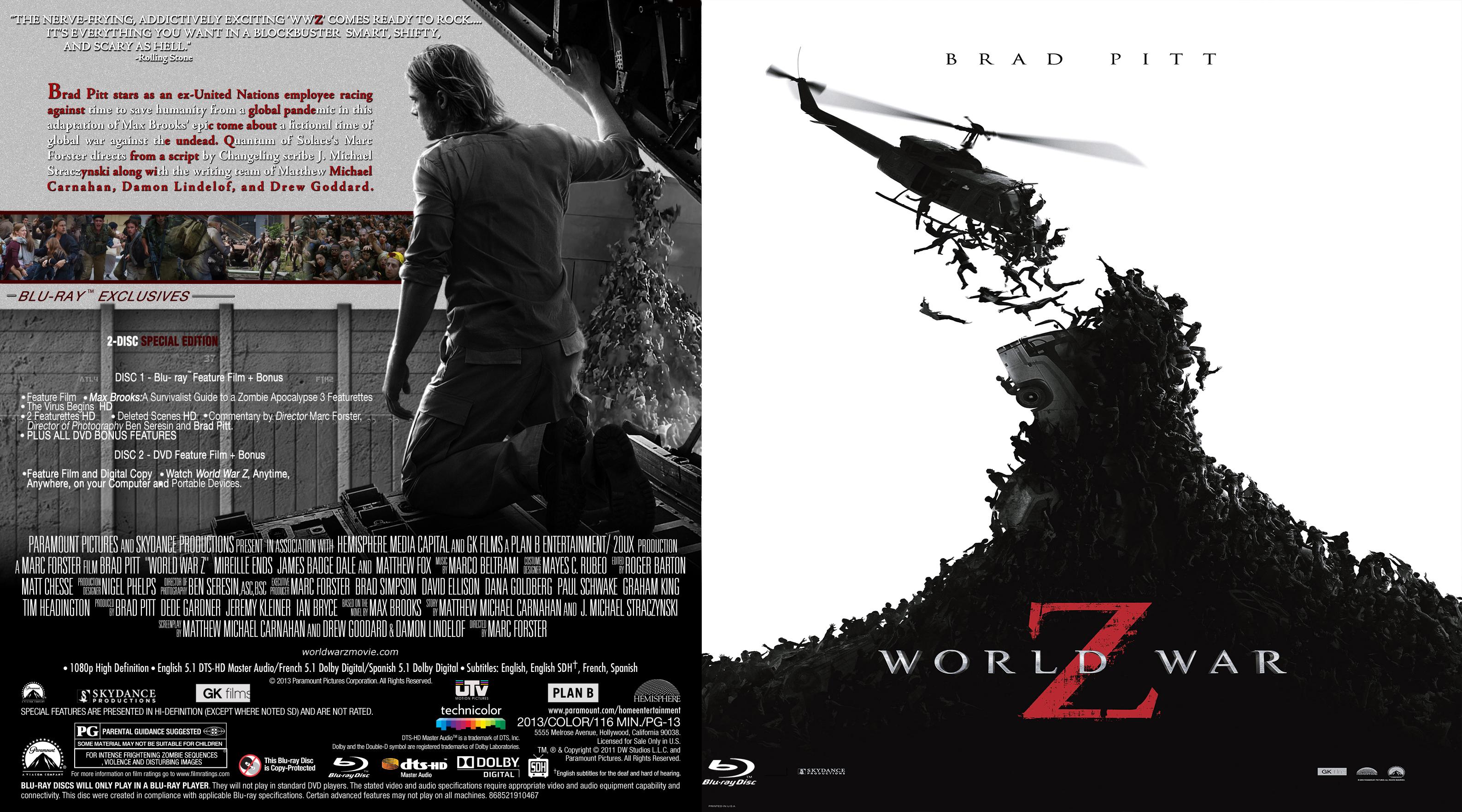 COVERS BOX SK ::: world war z (2013) - high quality DVD / Blueray