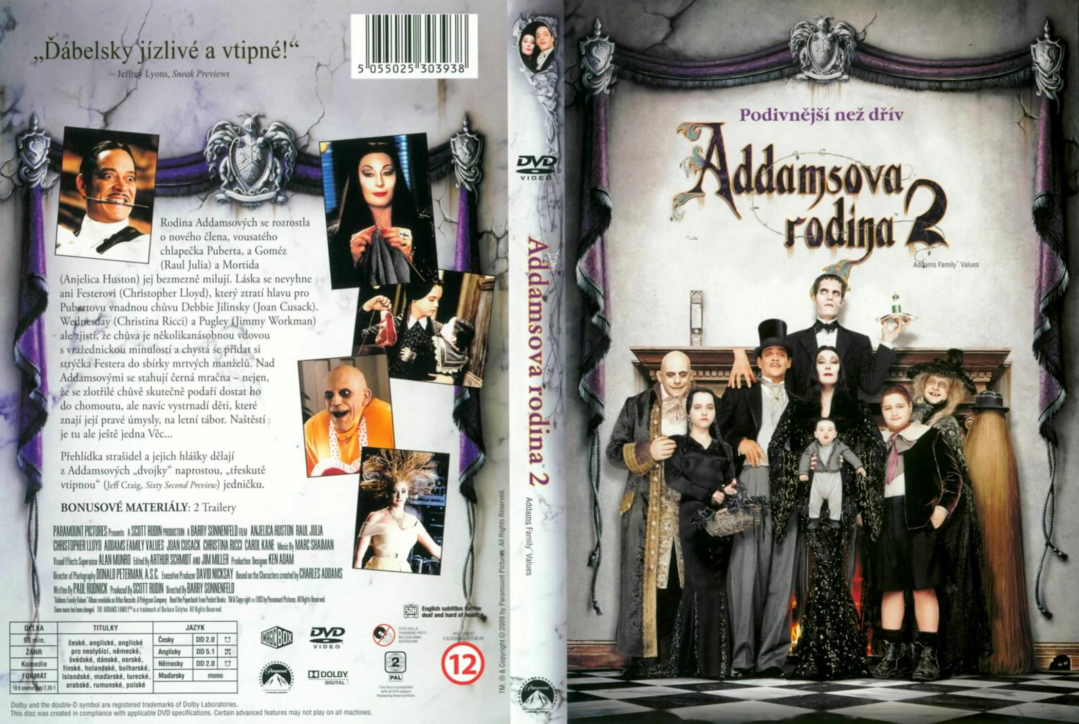 Family Values Cover Addams Family Values 1993