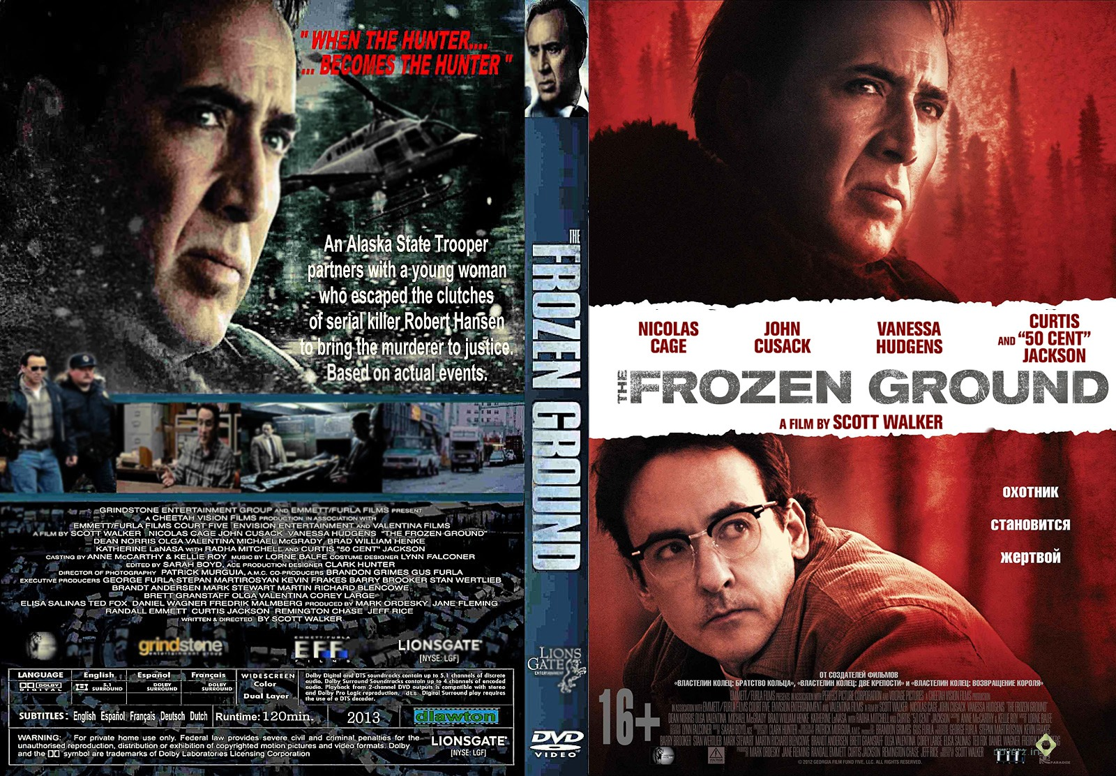 Gallery For > The Frozen Ground Dvd Cover