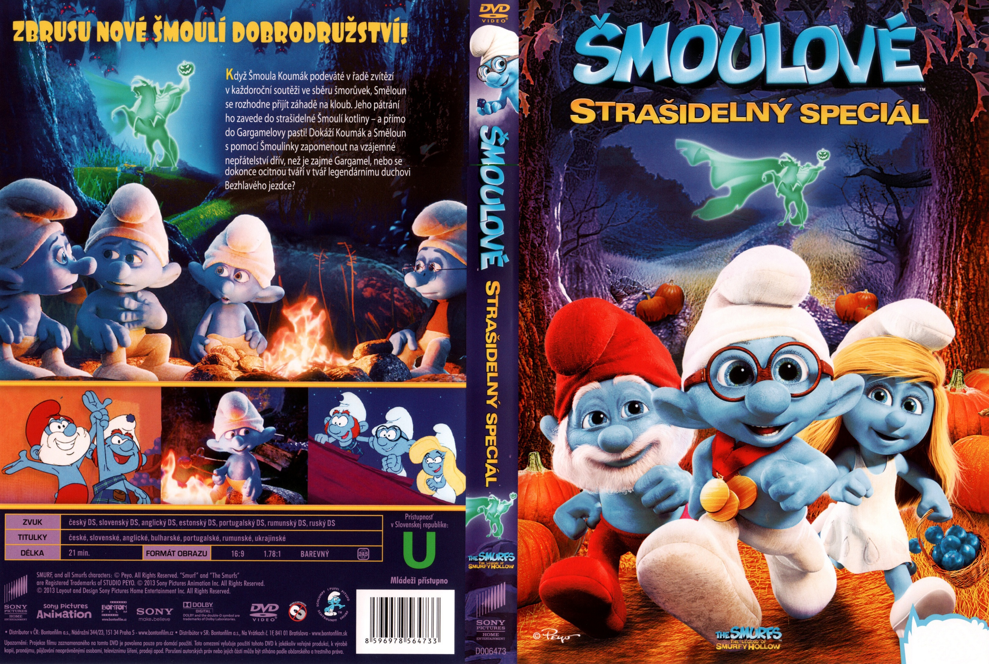 opening to the smurfs the legend of smurfy hollow 2013 dvd