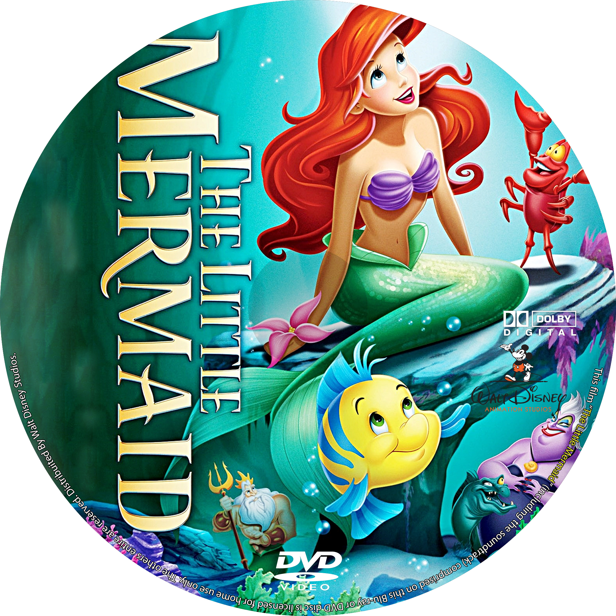 Coversboxsk  The Little Mermaid 1989 - High Quality -8456