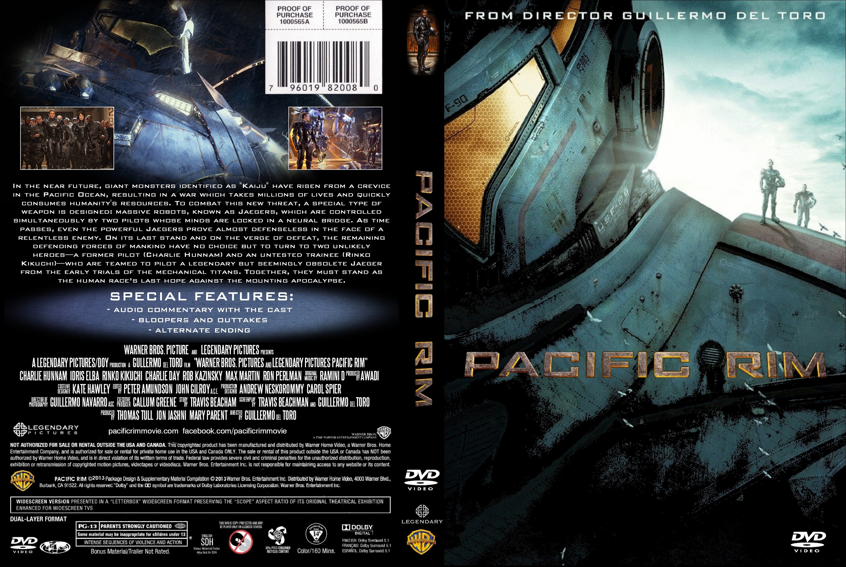 COVERS.BOX.SK ::: Pacific Rim - high quality DVD / Blueray ... Pacific Rim Cover