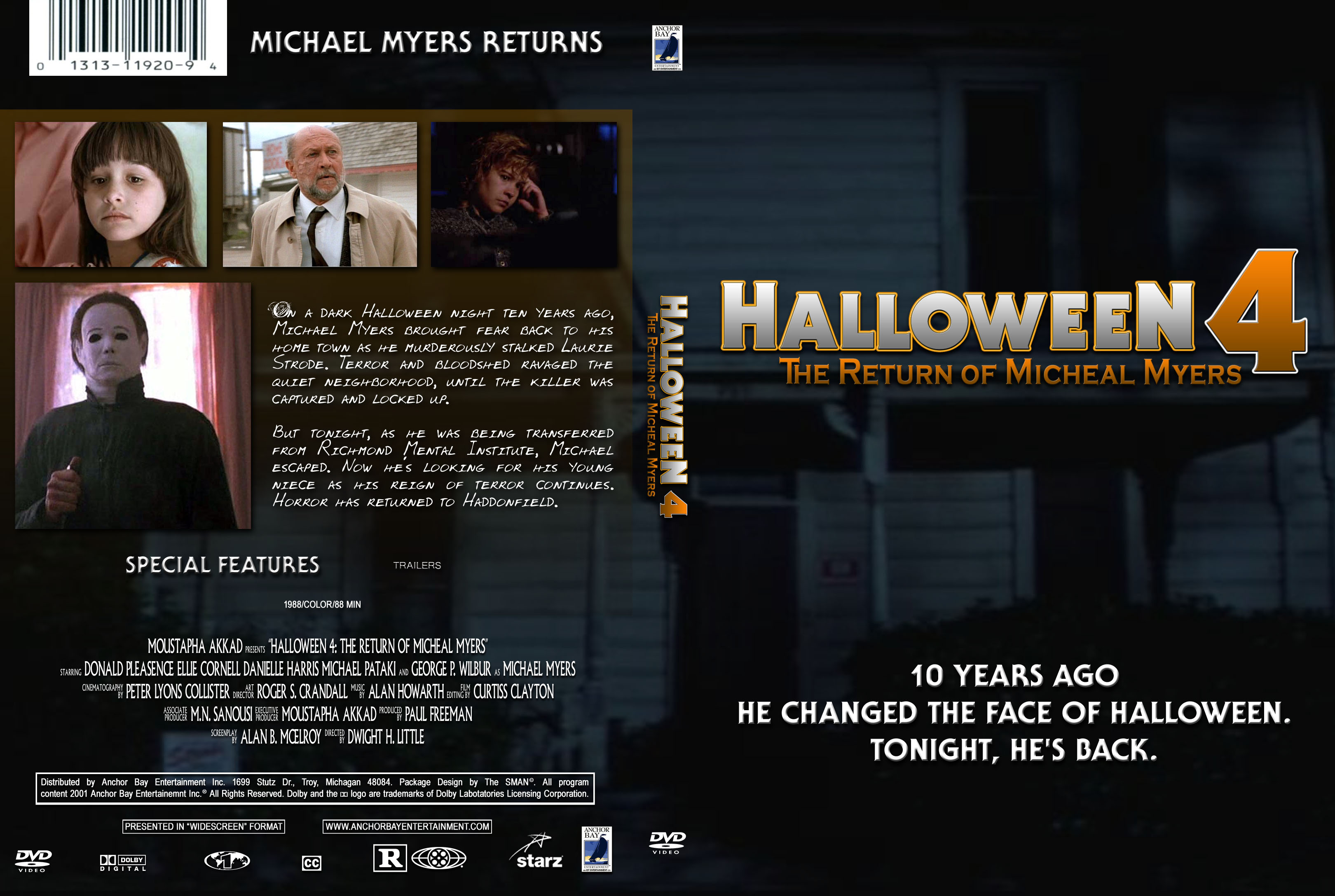 COVERS.BOX.SK ::: Halloween IV: The Return of Michael Myers 1988 ...