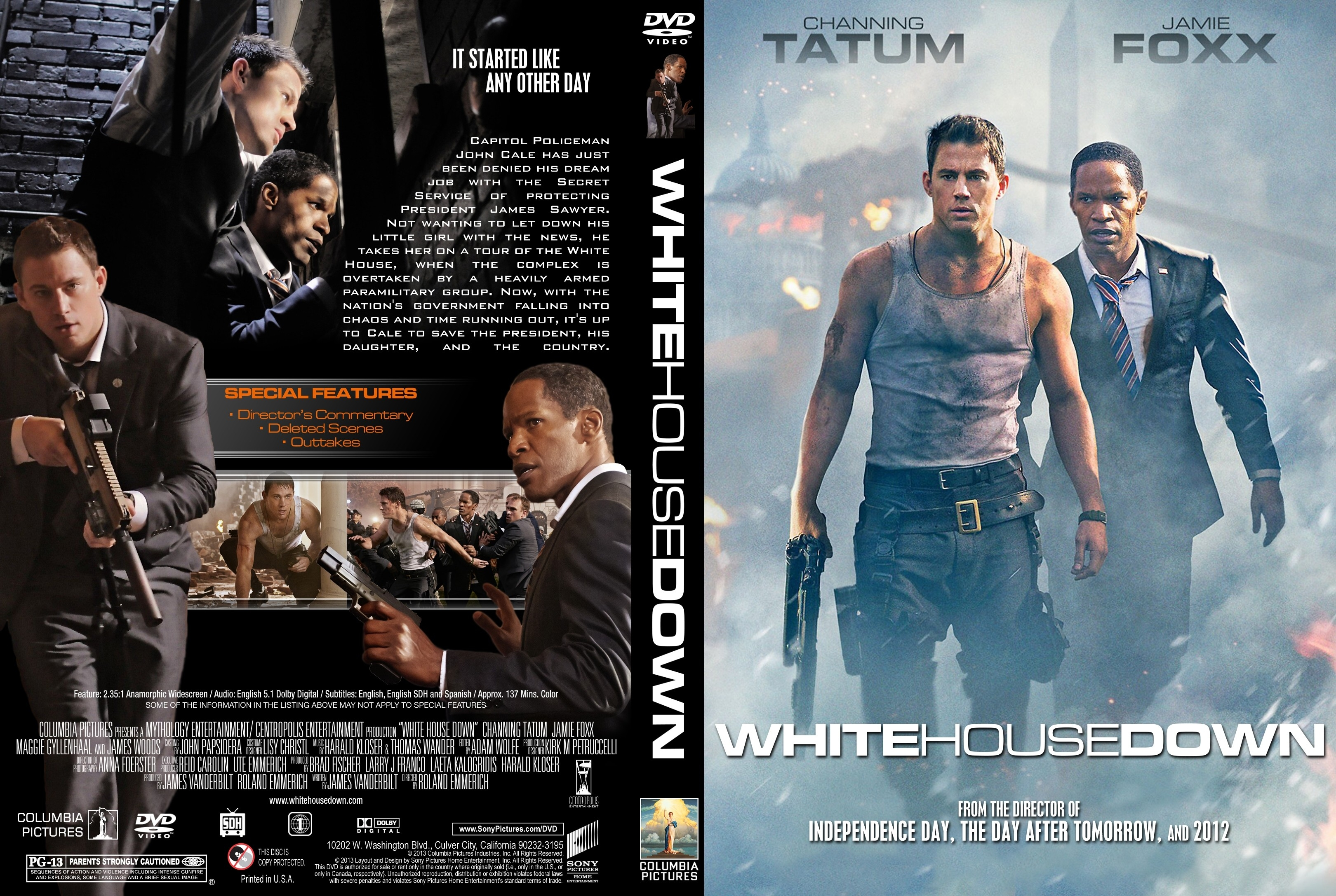 COVERSBOXSK White House Down high quality DVD Blueray