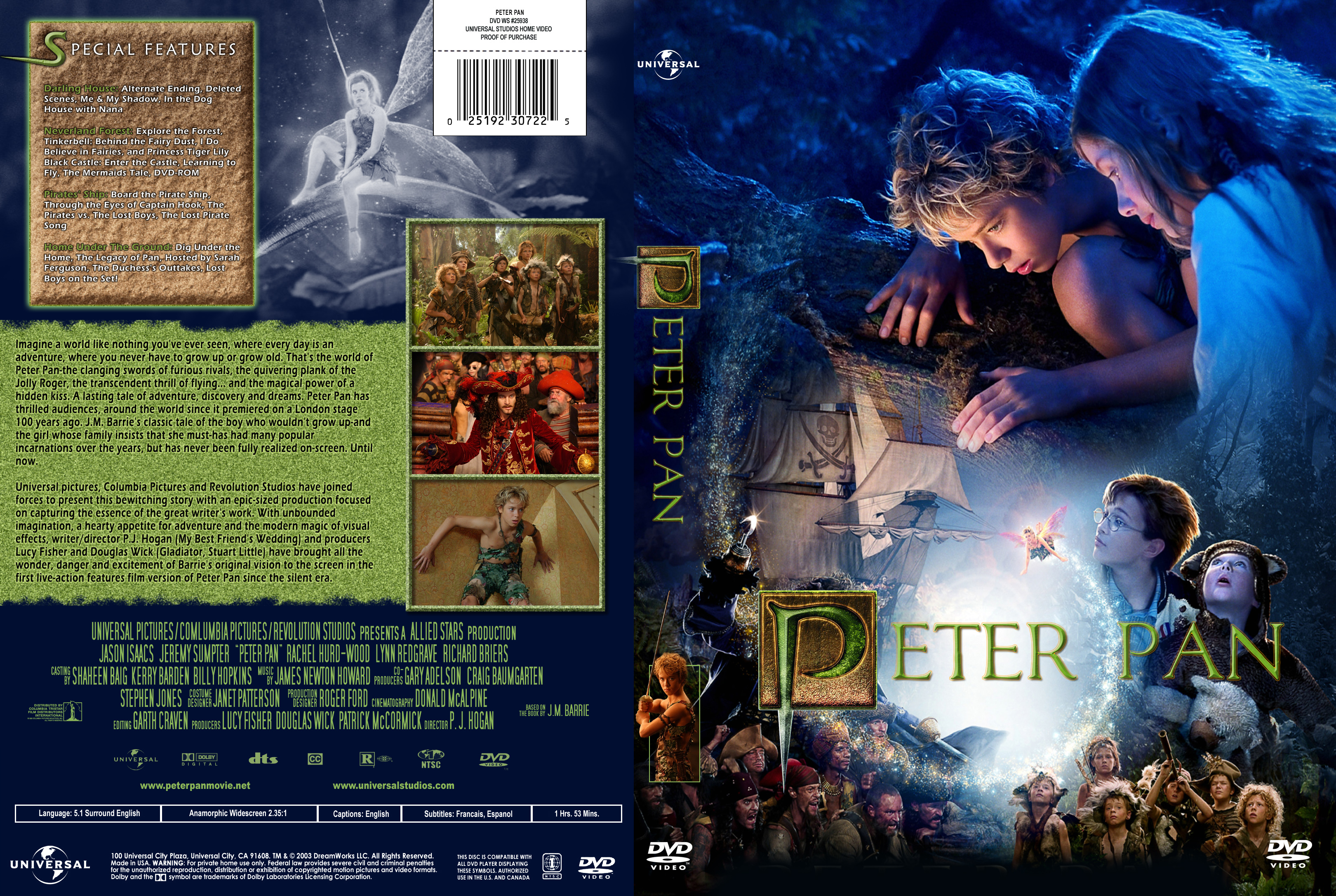 COVERS.BOX.SK ::: Peter Pan (2003) - high quality DVD / Blueray ...