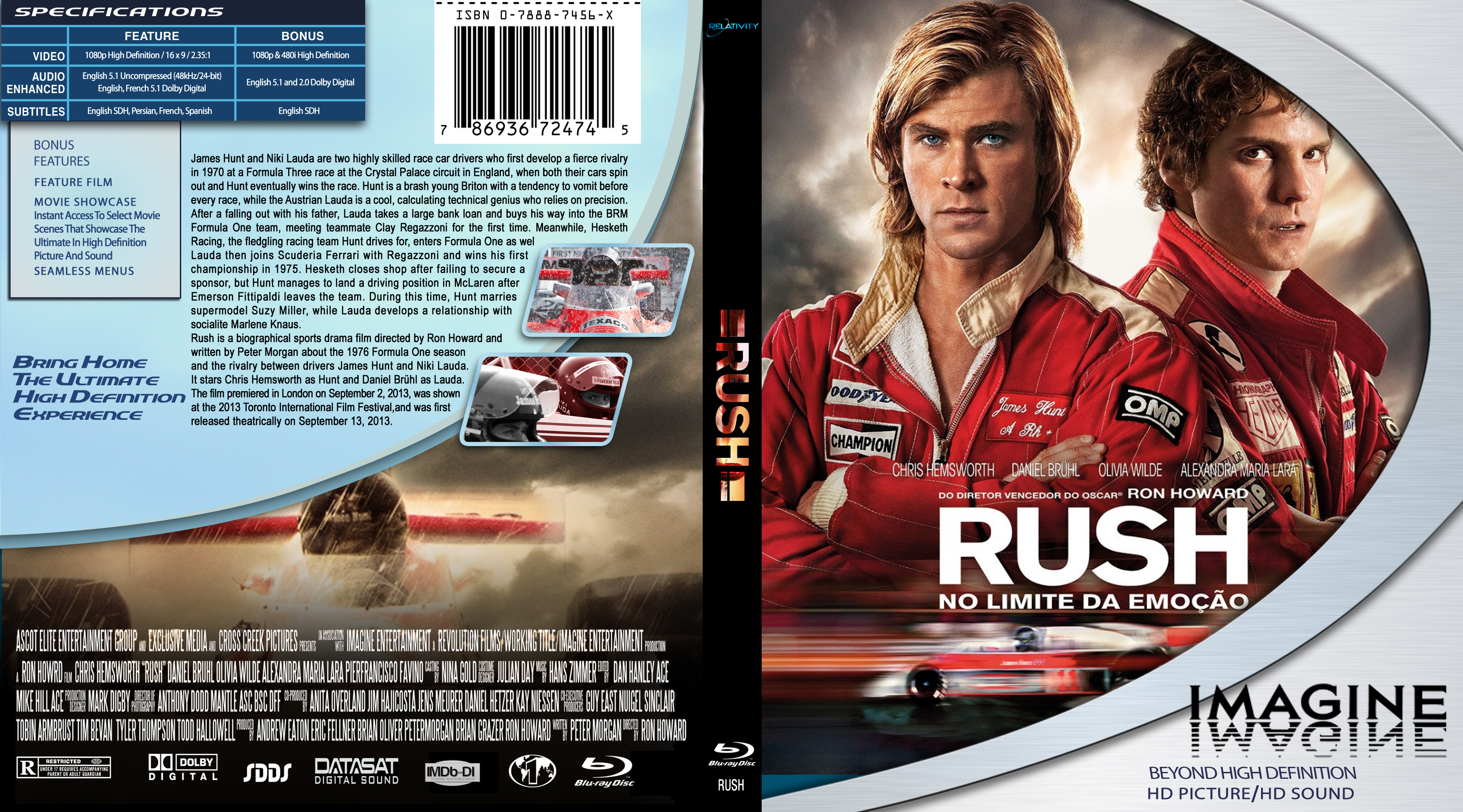Coversx rush 2013 blu ray high quality dvd blueray cover has been resized voltagebd Image collections