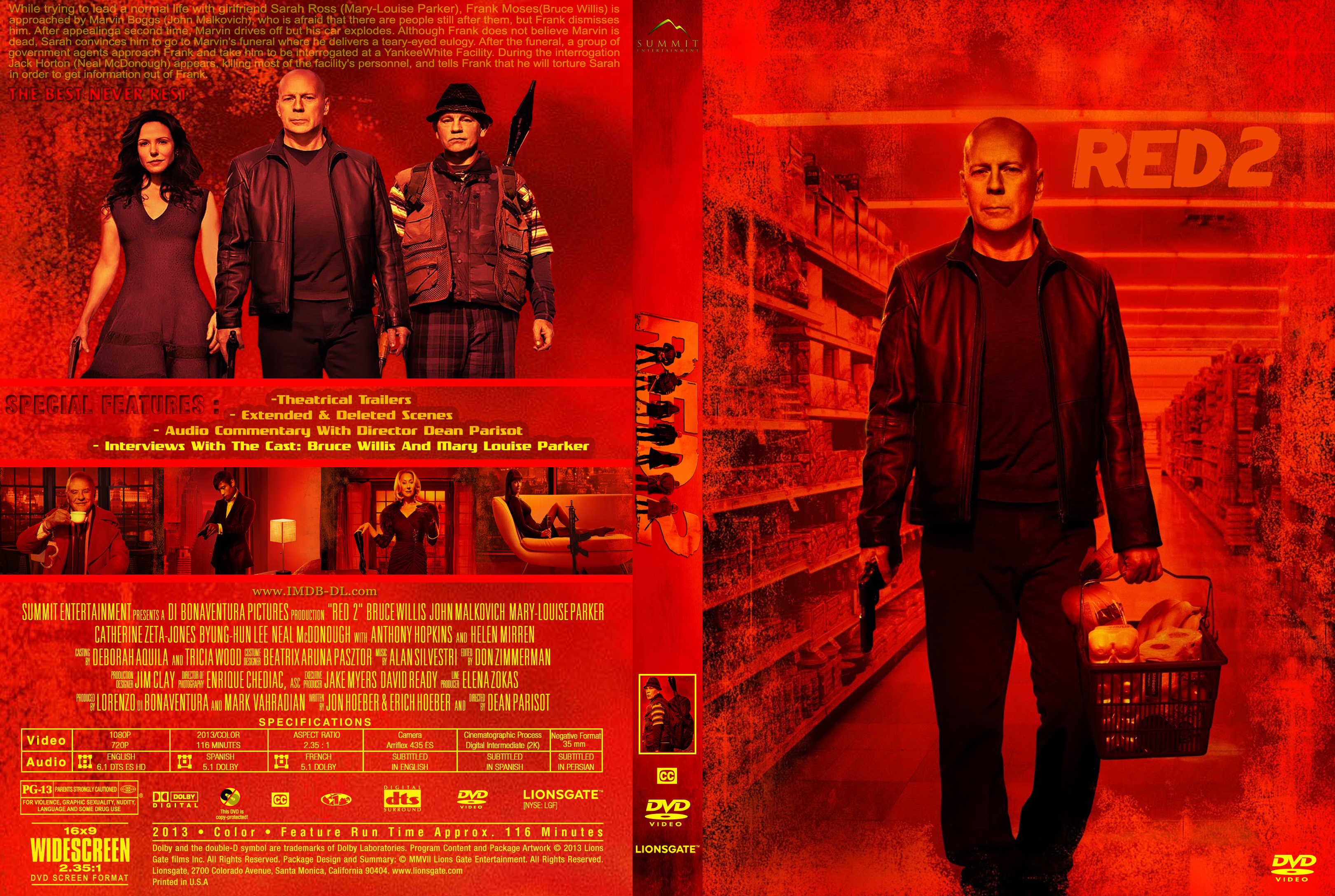 Red 2 Dvd Cover covers...