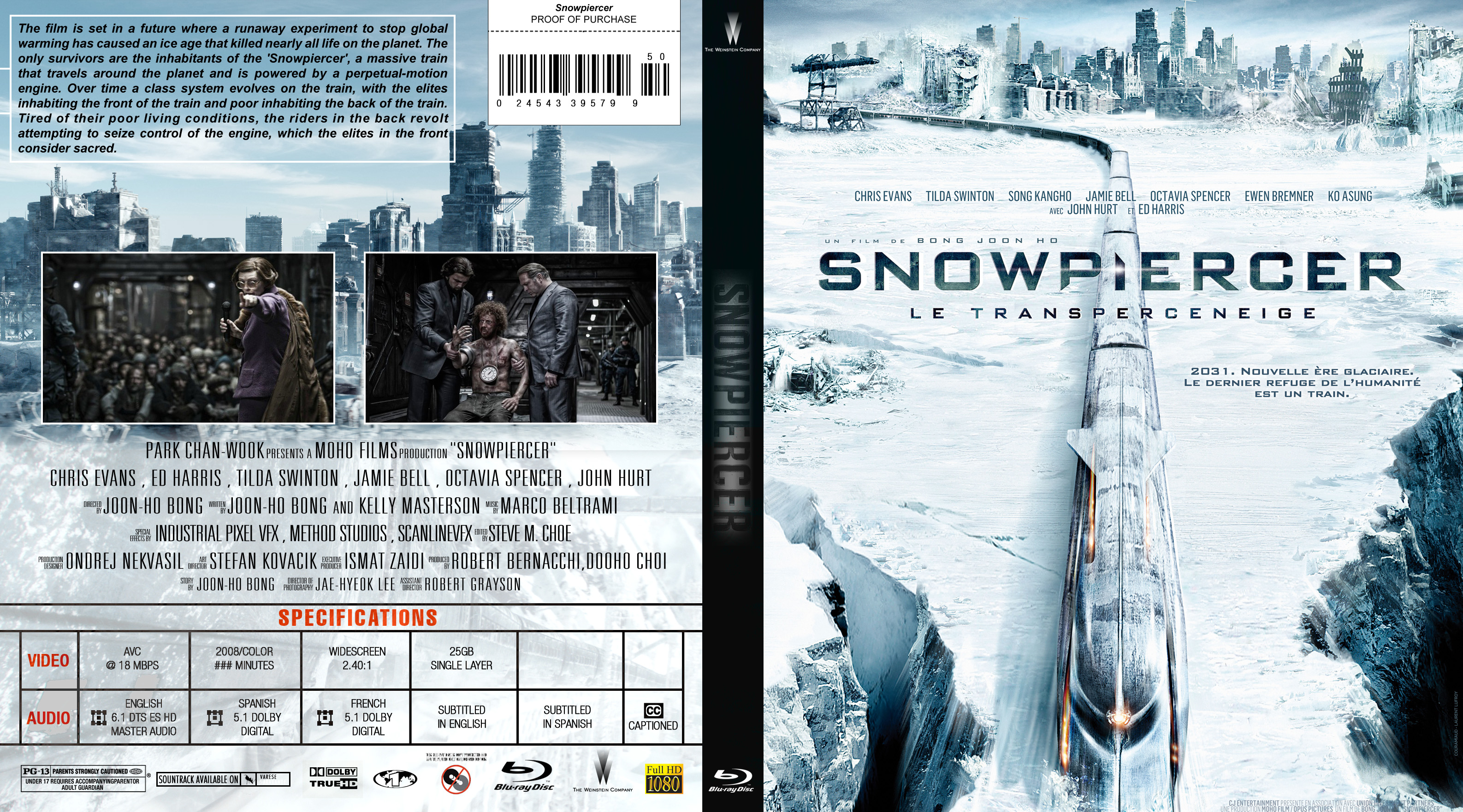 COVERS BOX SK ::: Snowpiercer (2013) Blu-ray - high quality
