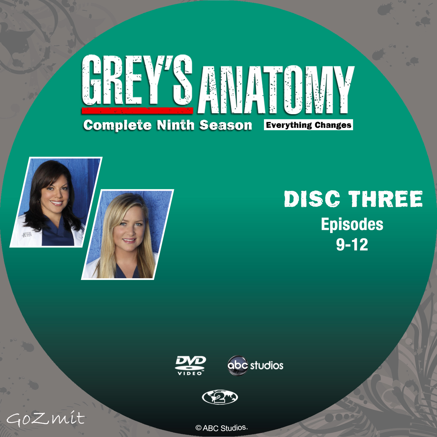 COVERS.BOX.SK ::: Greys Anatomy - Season 9 - Disc 3 - 6 (Nordic ...