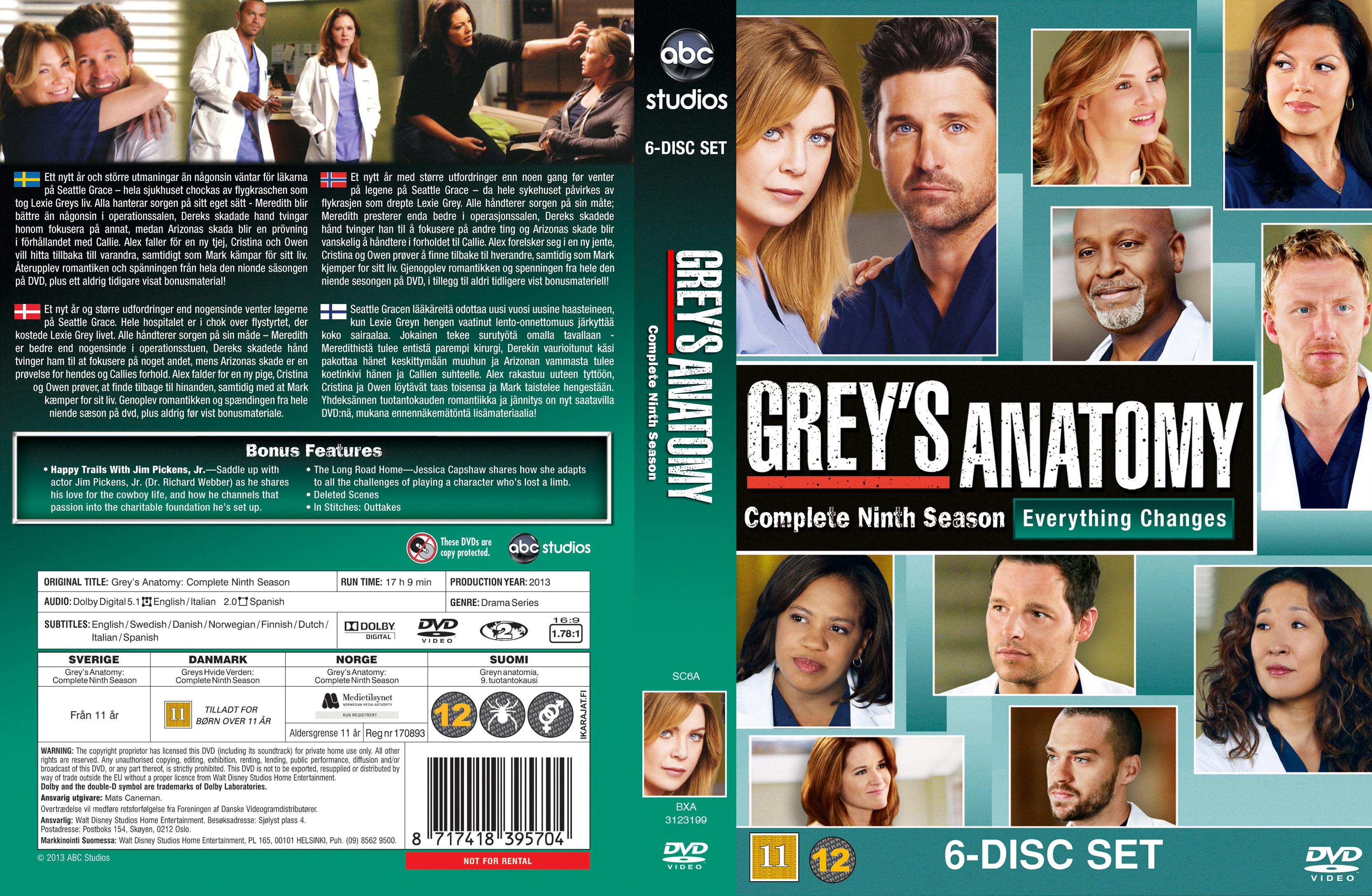 Coversx Greys Anatomy Season 9 Nordic High Quality