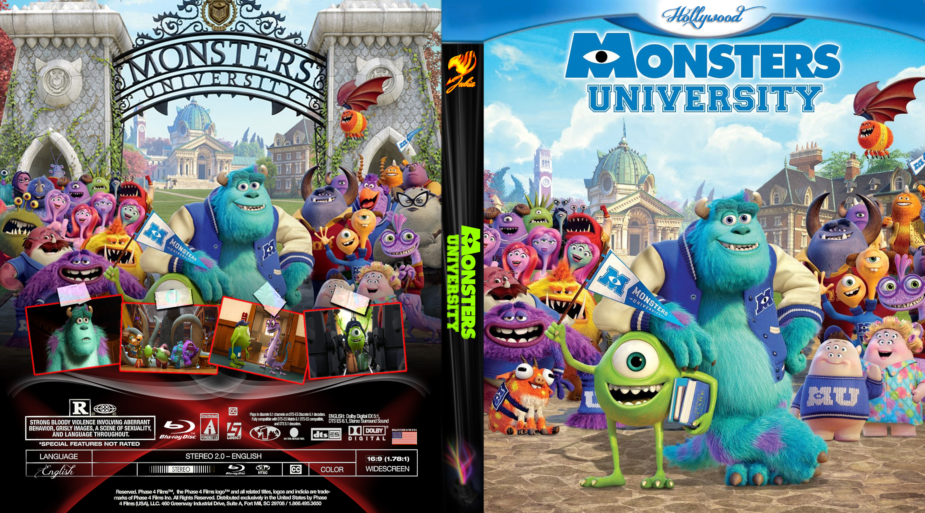Coversx monsters university high quality dvd blueray click here for full voltagebd Images