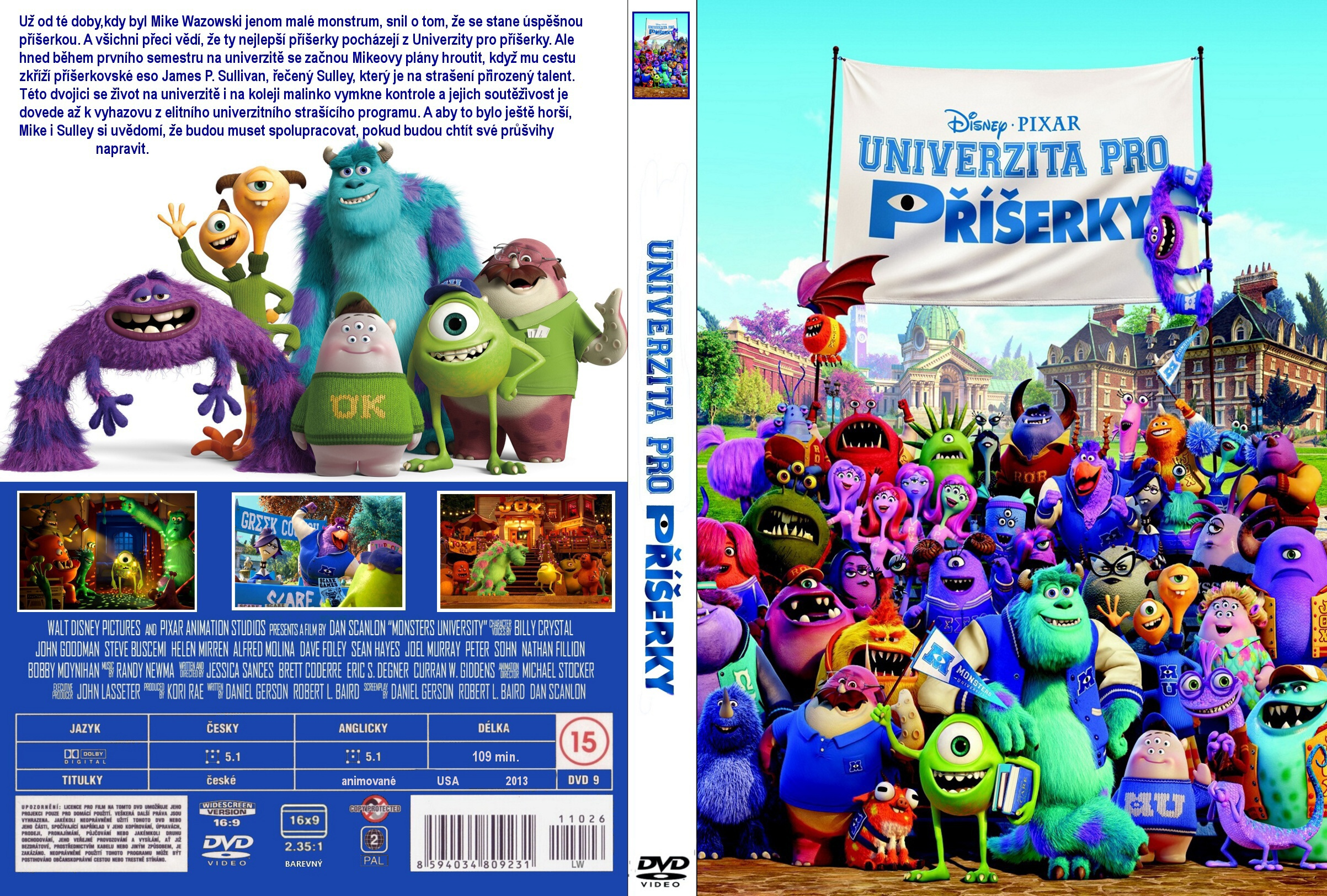 Coversx monsters university 2013 high quality dvd click here for full voltagebd Images