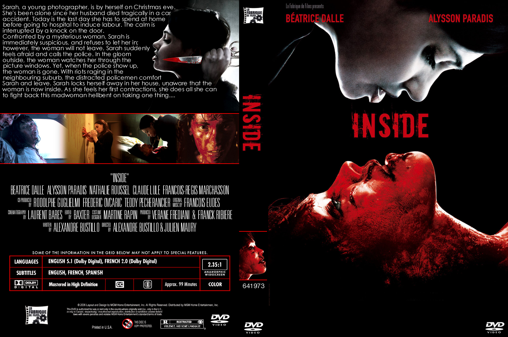 Covers box sk interieur high quality dvd blueray for Inside 2007 movie online free