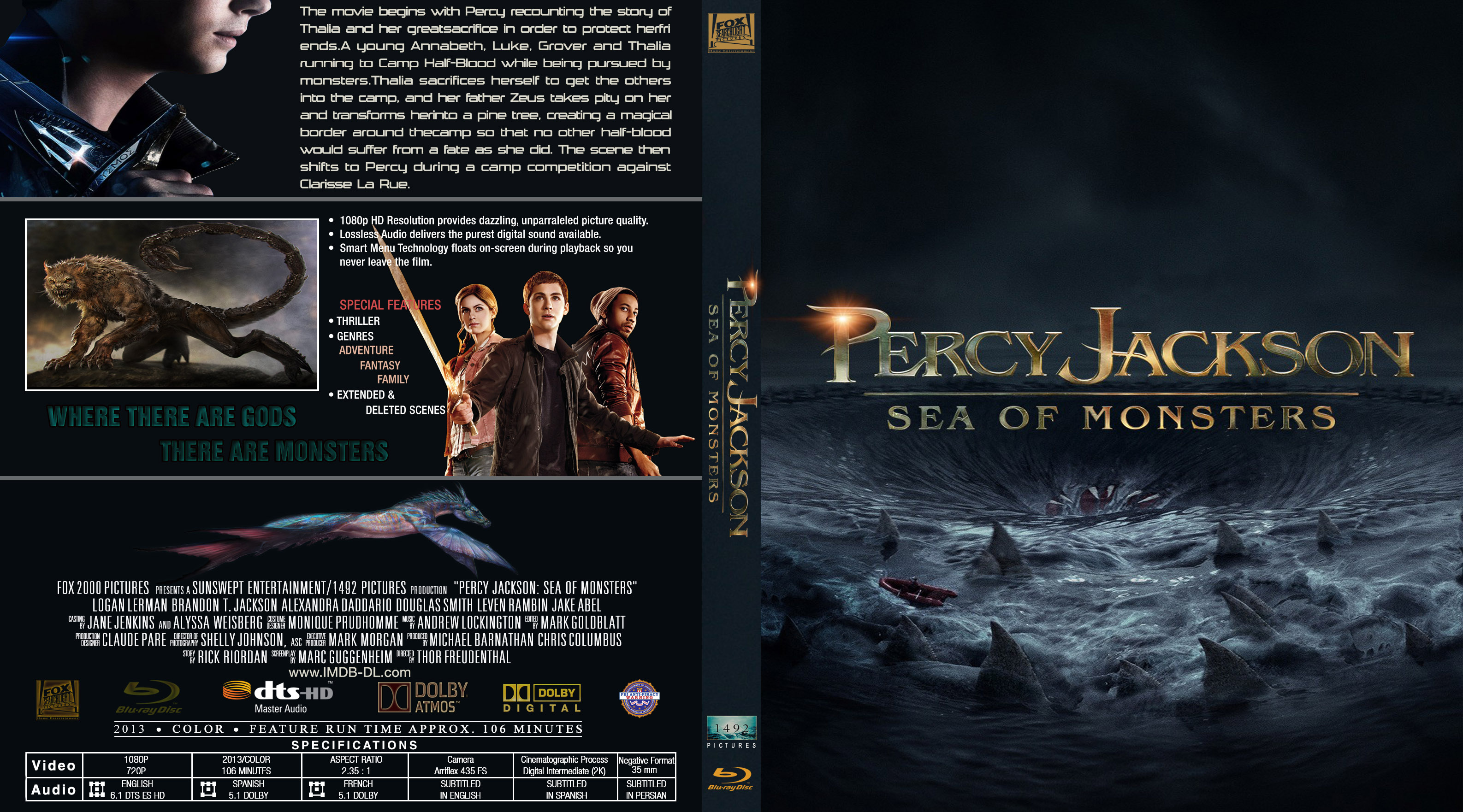 download percy jackson sea of monsters blu ray