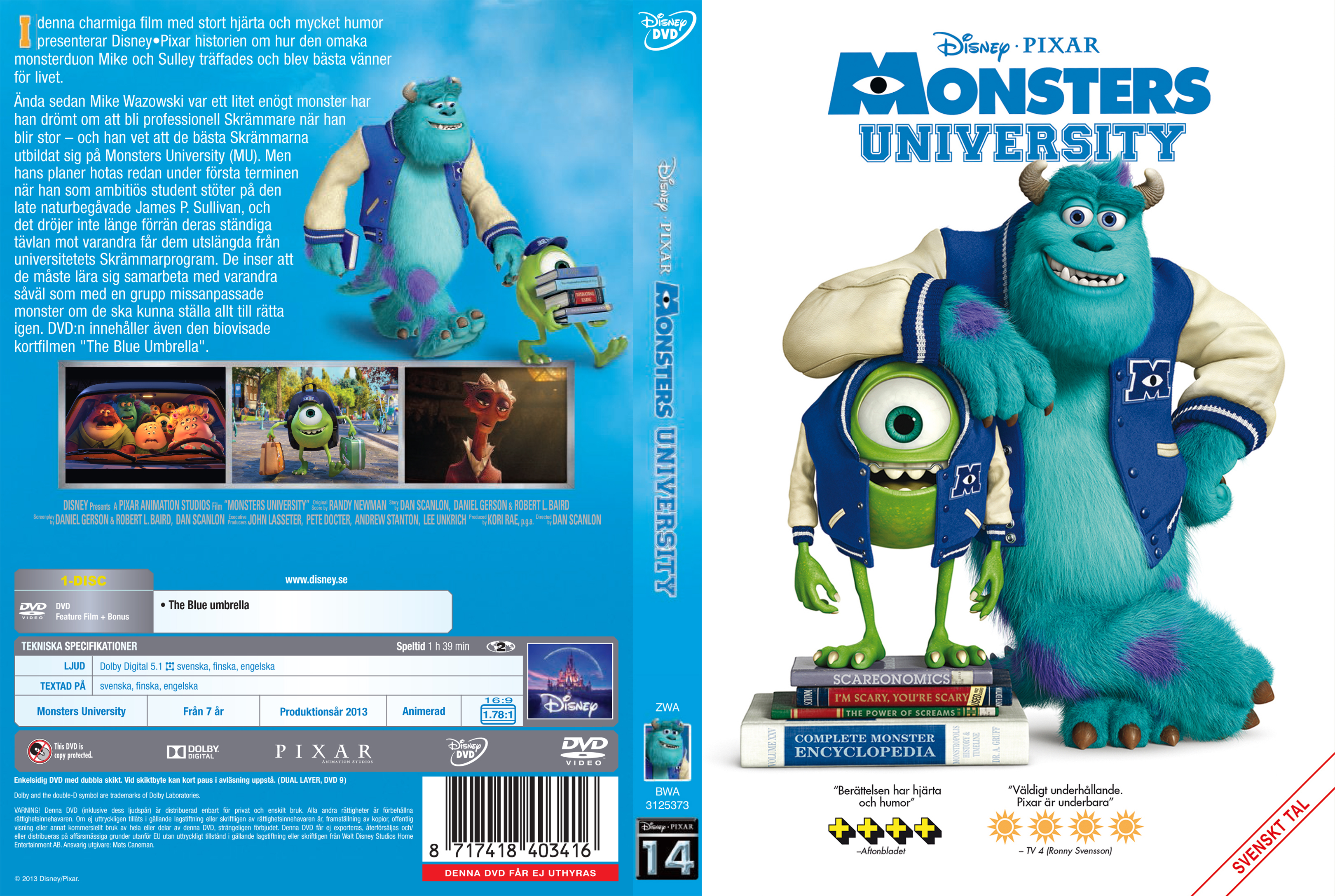 Monster University Dvd Cover | www.imgkid.com - The Image ...