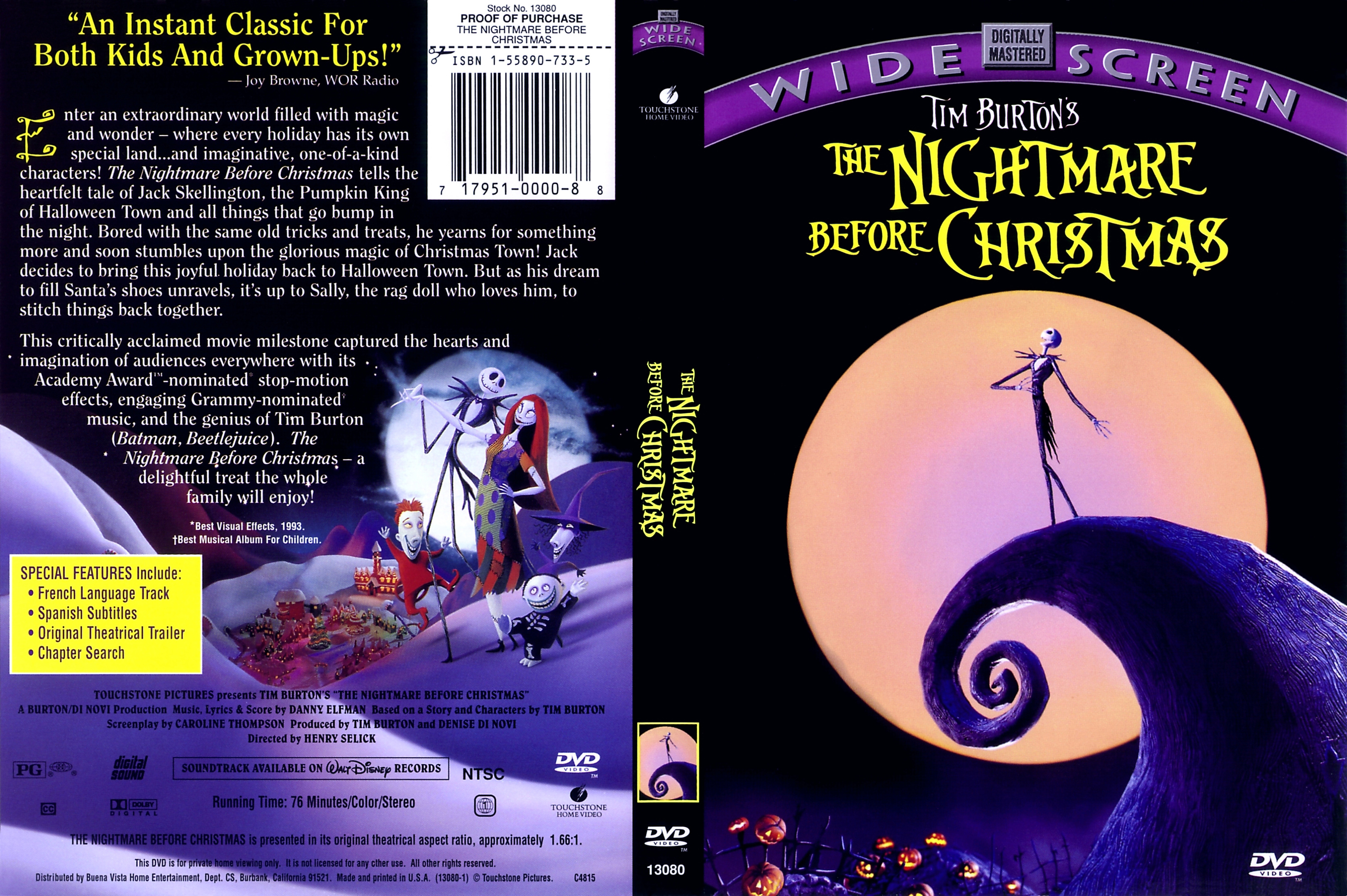 COVERS.BOX.SK ::: The Nightmare Before Christmas - high quality ...