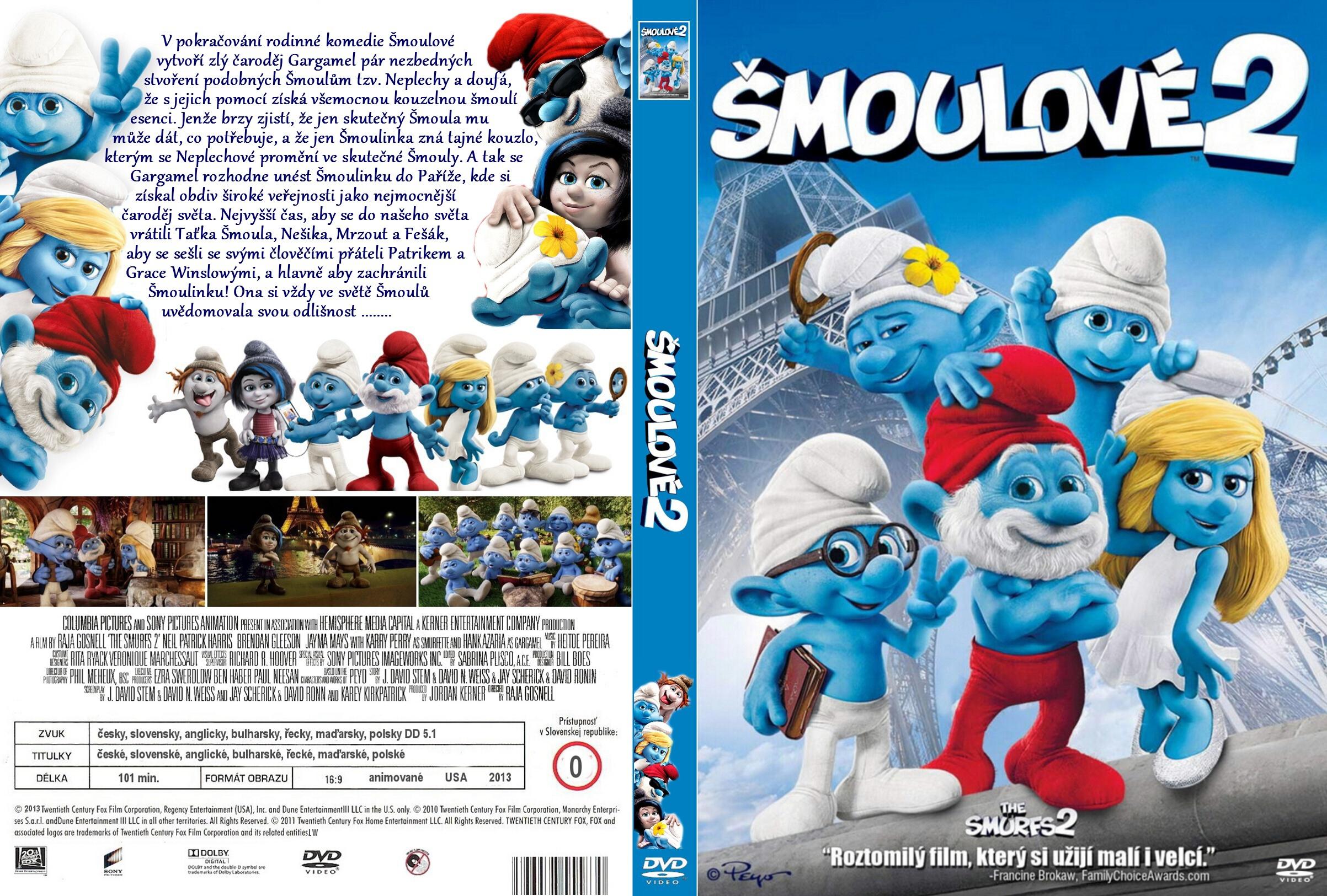 Covers Box Sk The Smurfs 2 2013 High Quality Dvd Blueray Movie