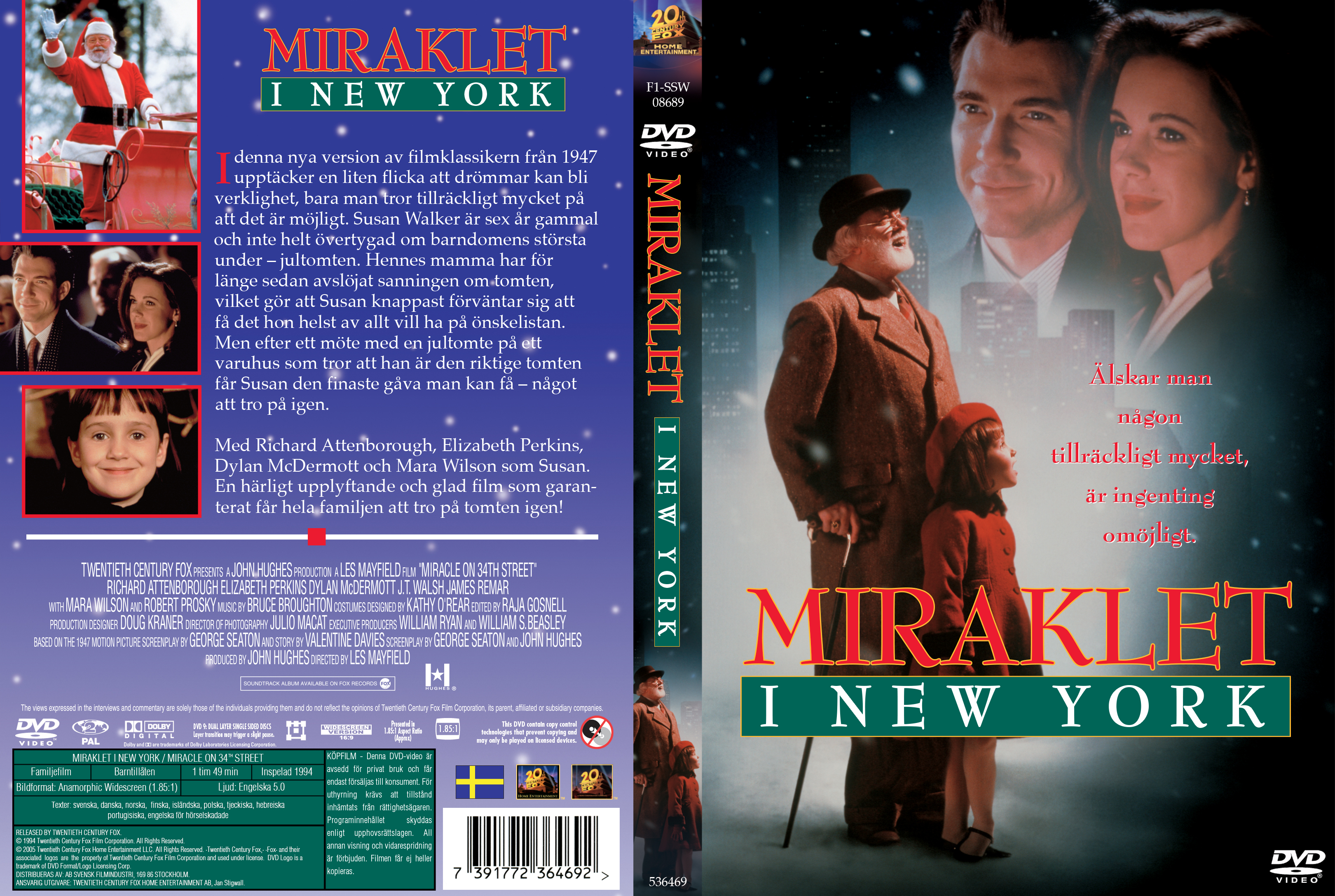 Covers Box Sk Miracle On 34th Street 1994 High