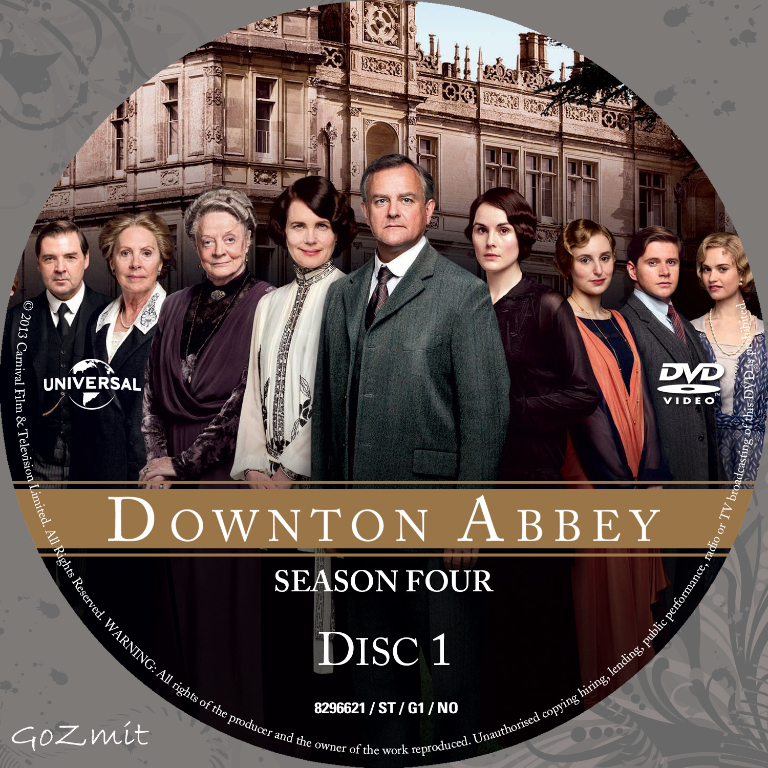 COVERS.BOX.SK ::: Downton Abbey - Season 4 (Nordic) - high quality ...