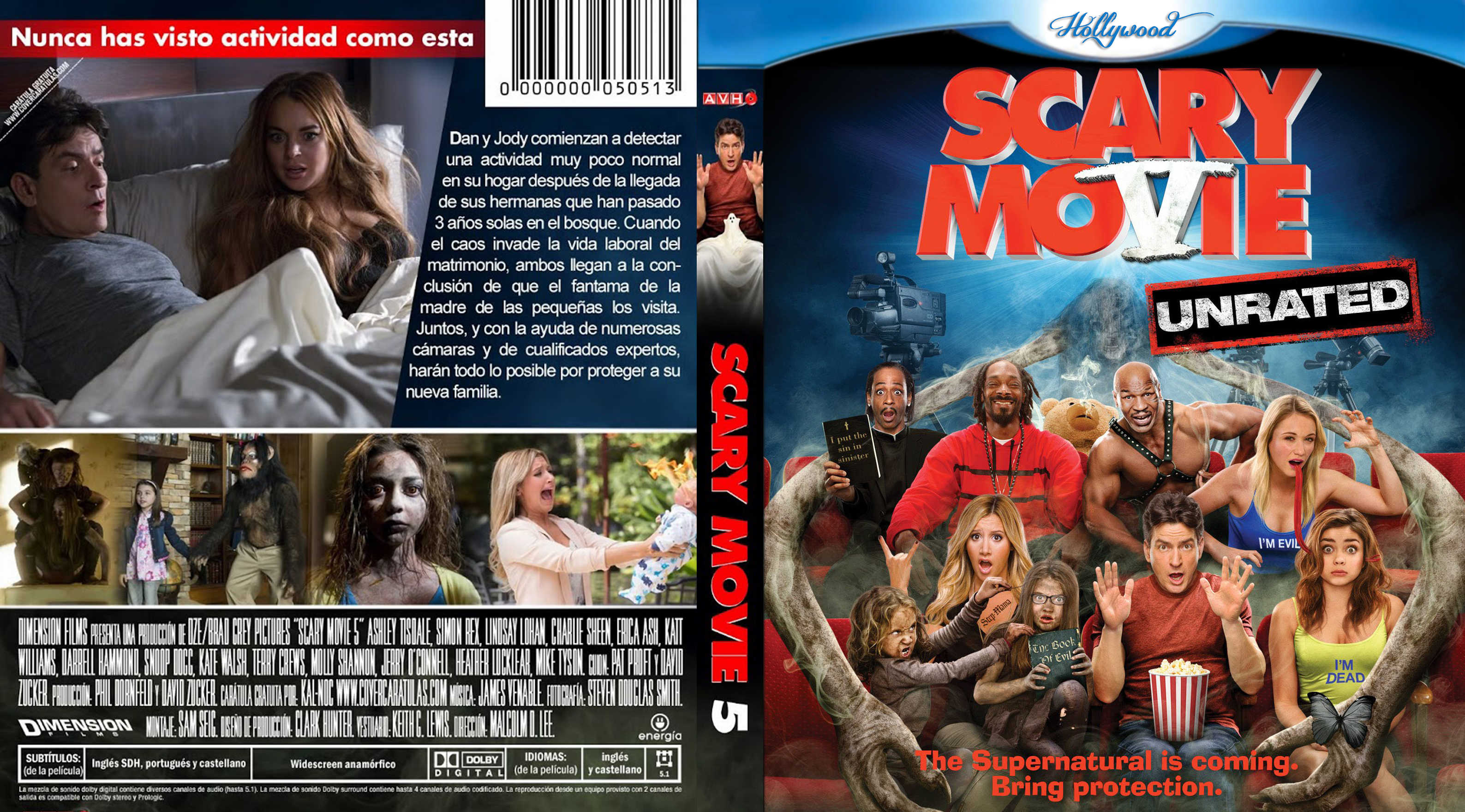 Covers Box Sk Scary Movie 5 High Quality Dvd Blueray Movie