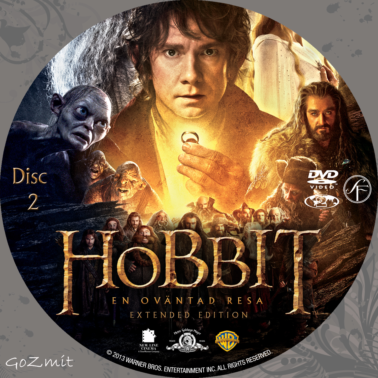 The Hobbit - An Unexpected Journey - Extended Edition - front backThe Hobbit An Unexpected Journey Dvd