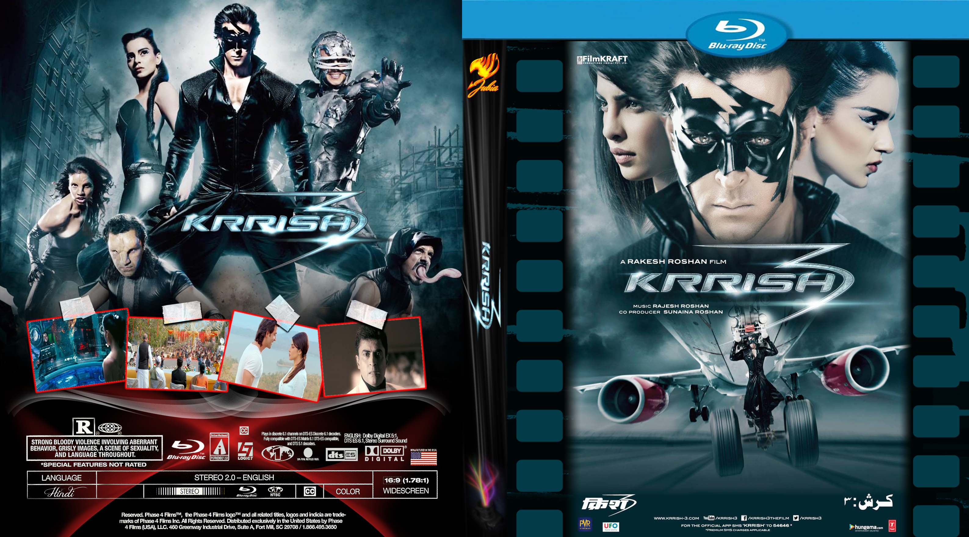 Covers Box Sk Krrish 3 High Quality Dvd Blueray Movie