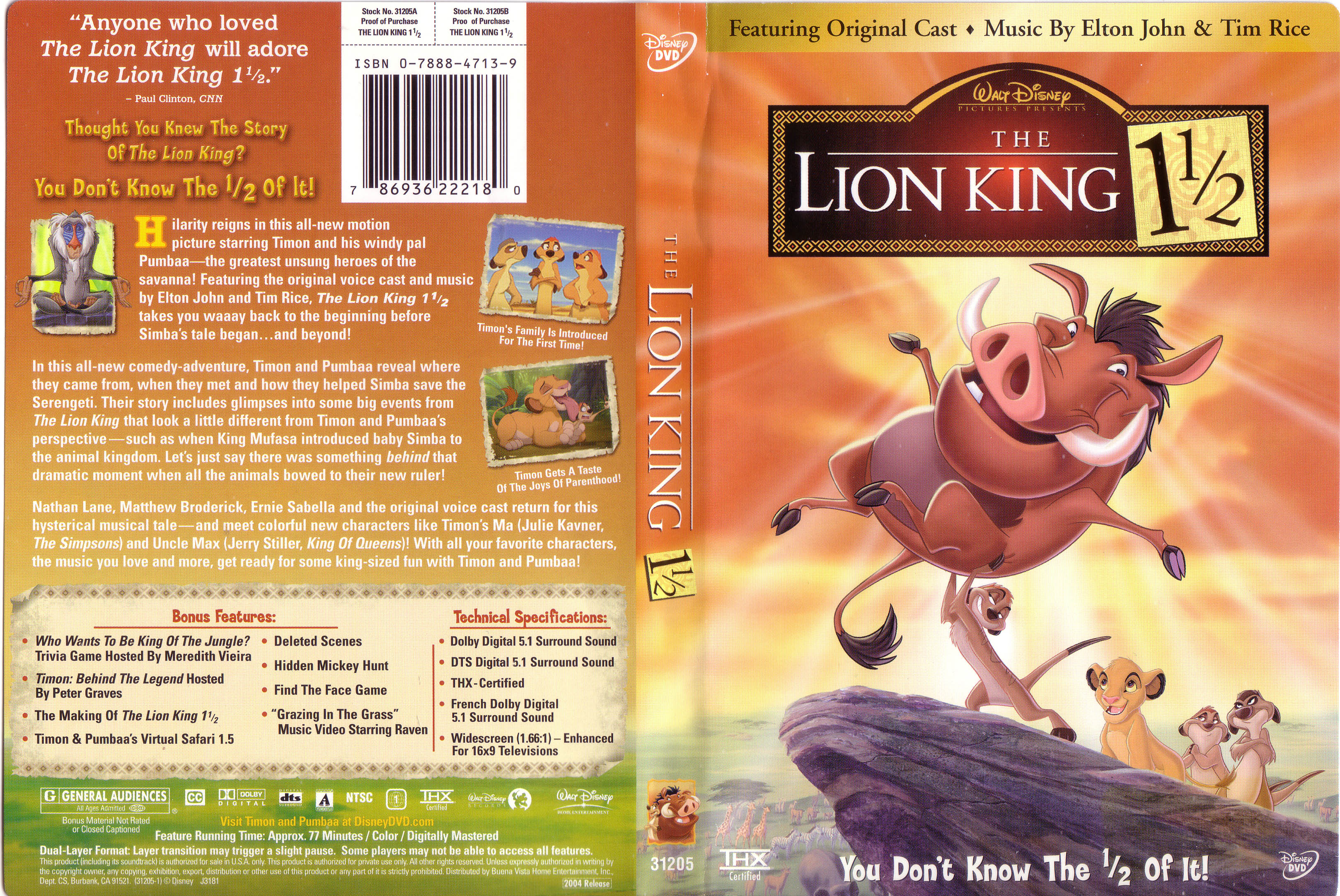 covers box sk the lion king 1 1 2 2004 high quality dvd
