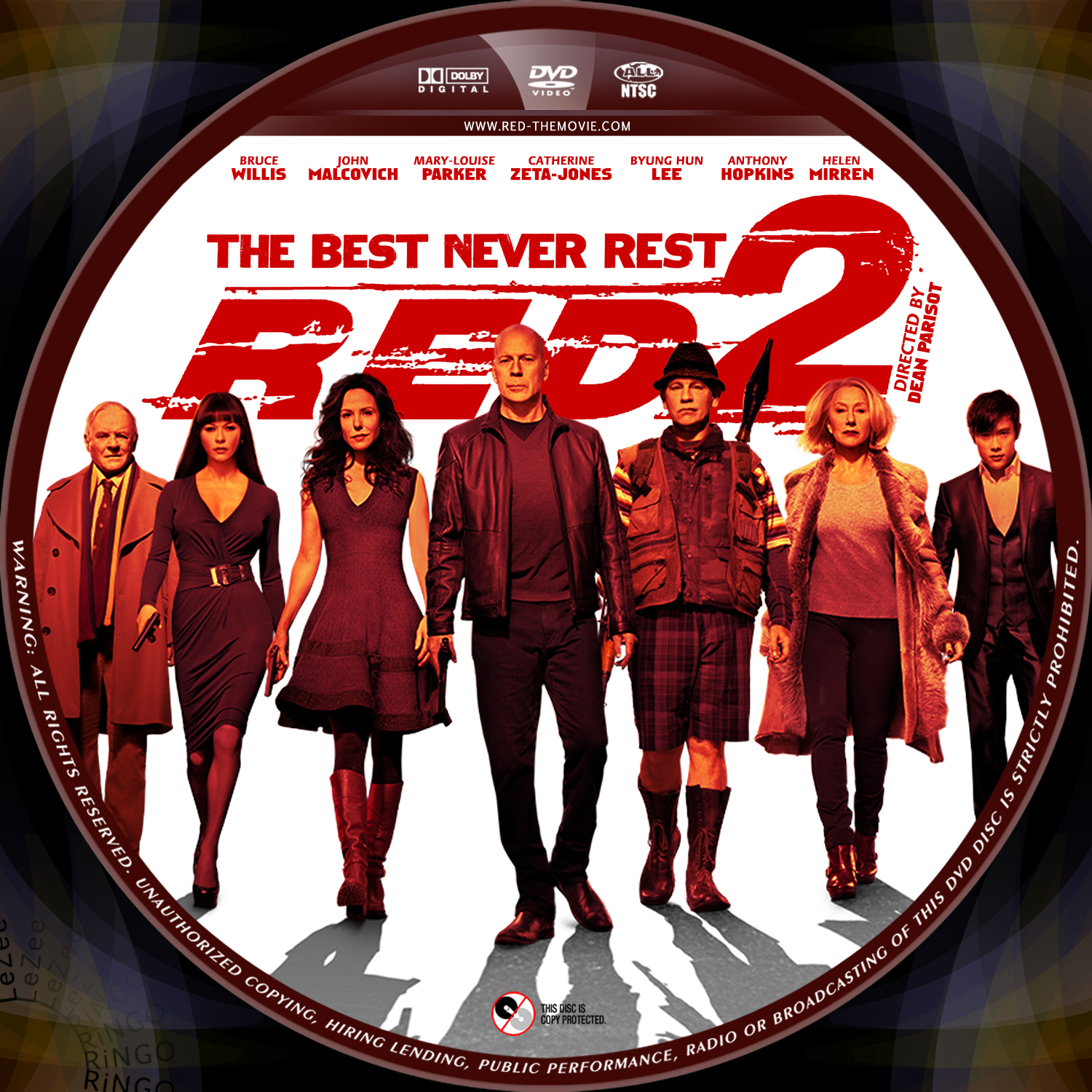 Red 2 Cover covers box...