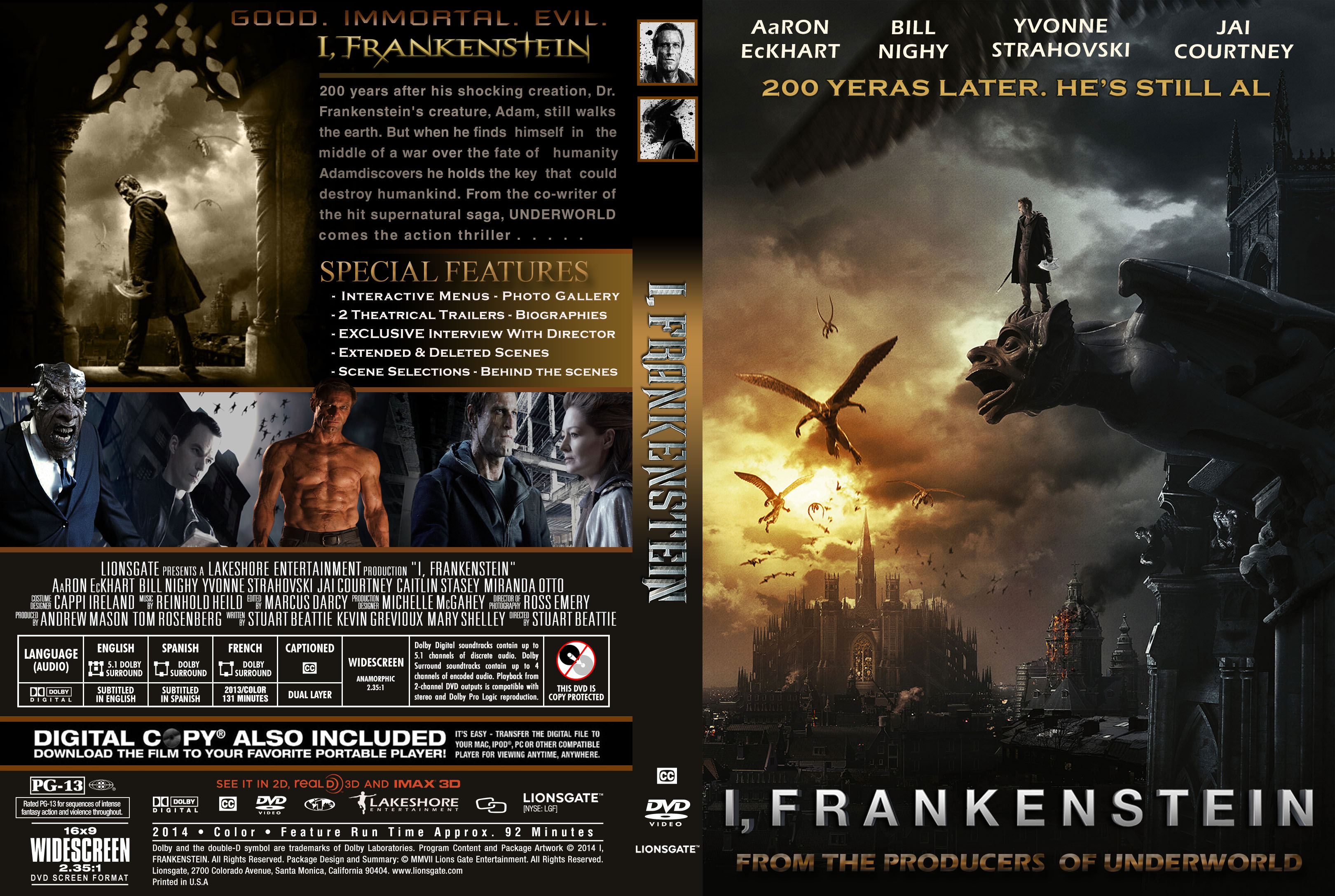 covers.box.sk ::: i,frankenstein - high quality dvd / blueray / movie