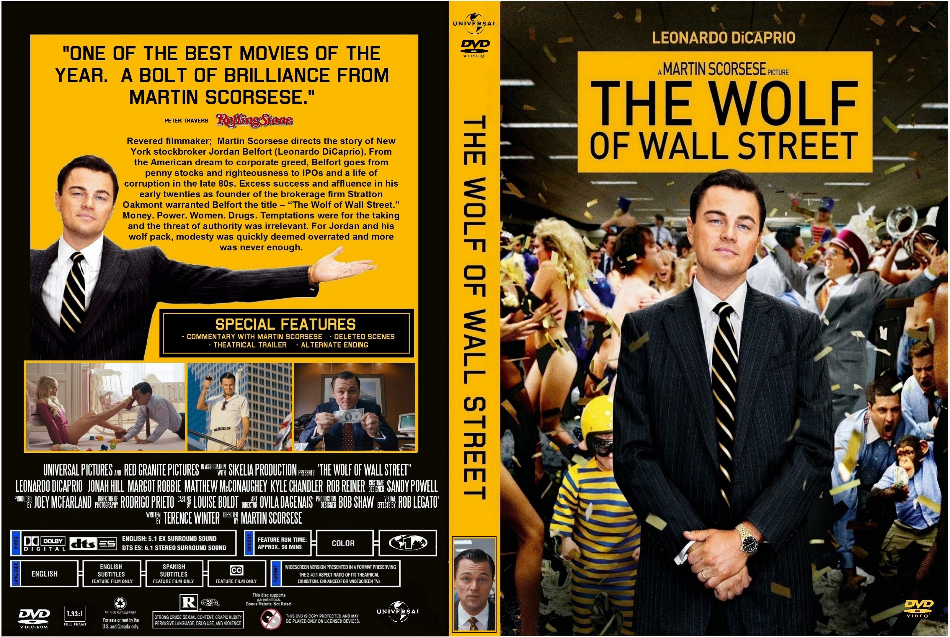Wolf Of Wall Street Blu Ray COVERS.BOX.SK ::: The ...
