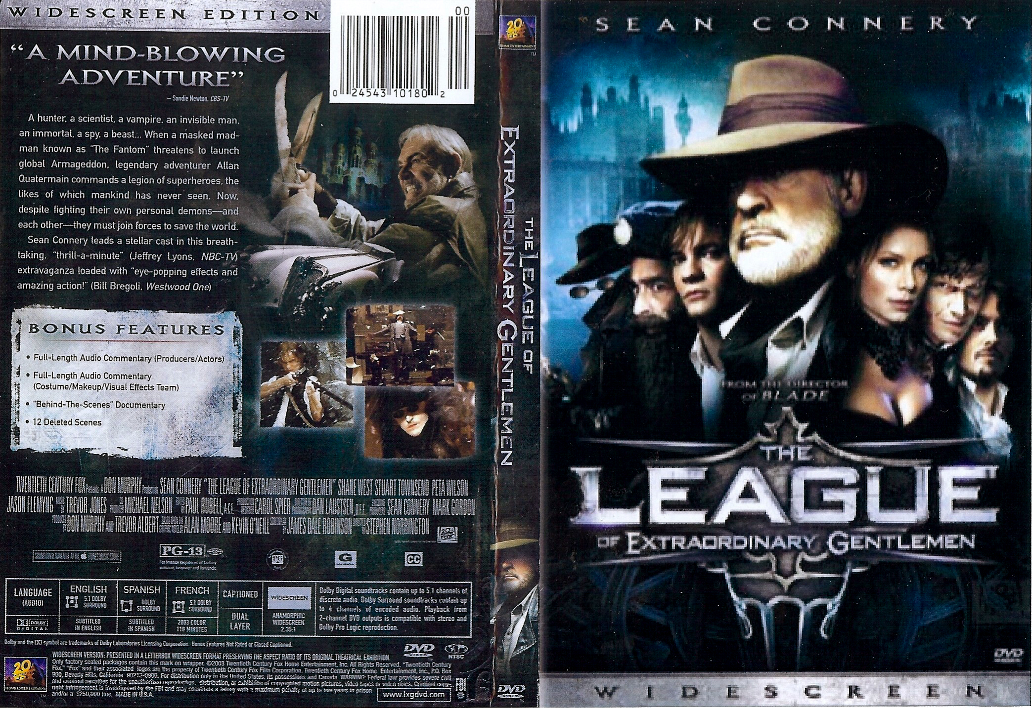 Covers Box Sk The League Of Extraordinary Gentlemen 2003 High Quality Dvd Blueray Movie