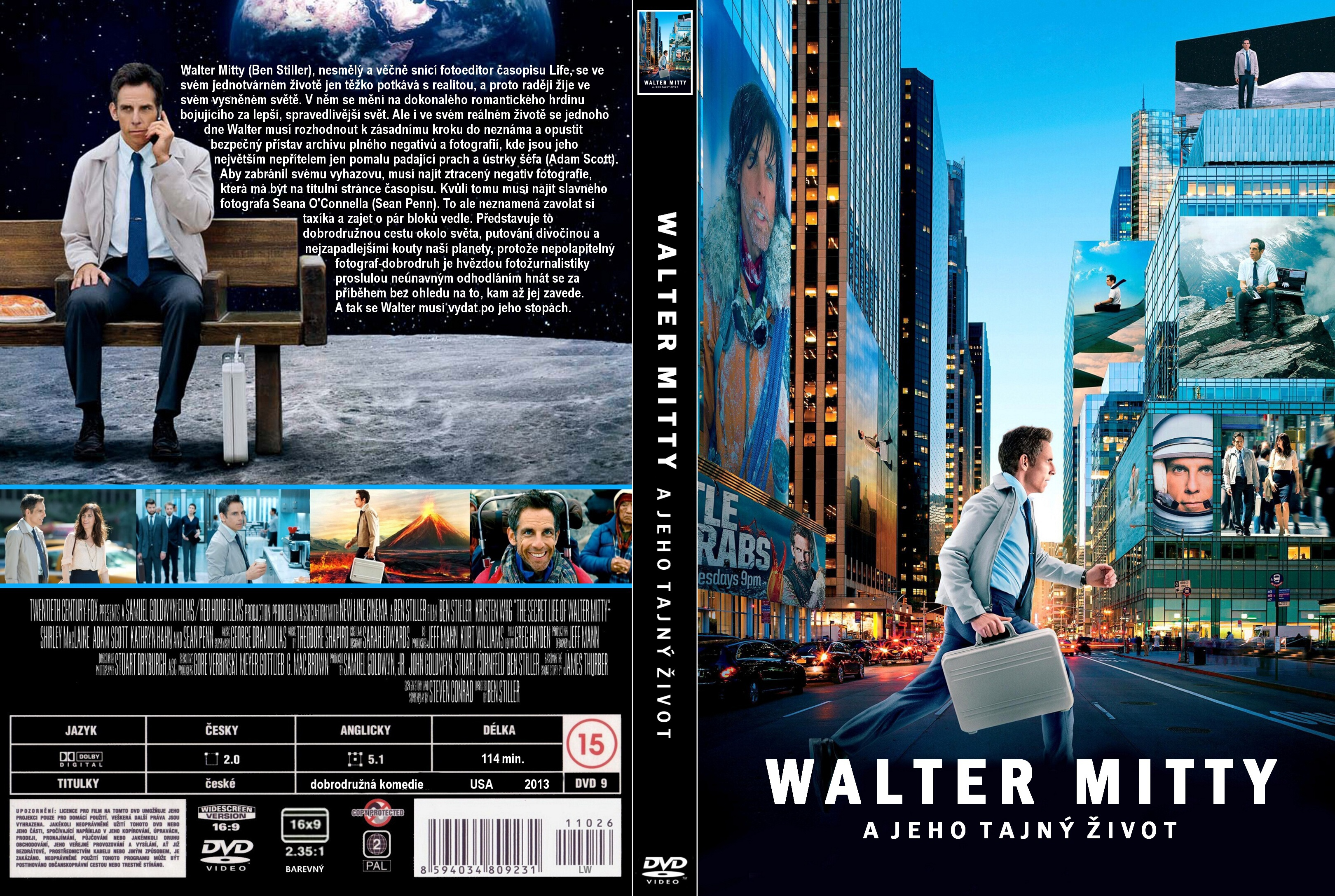Covers Box Sk The Secret Life Of Walter Mitty 2013 High Quality Dvd Blueray Movie