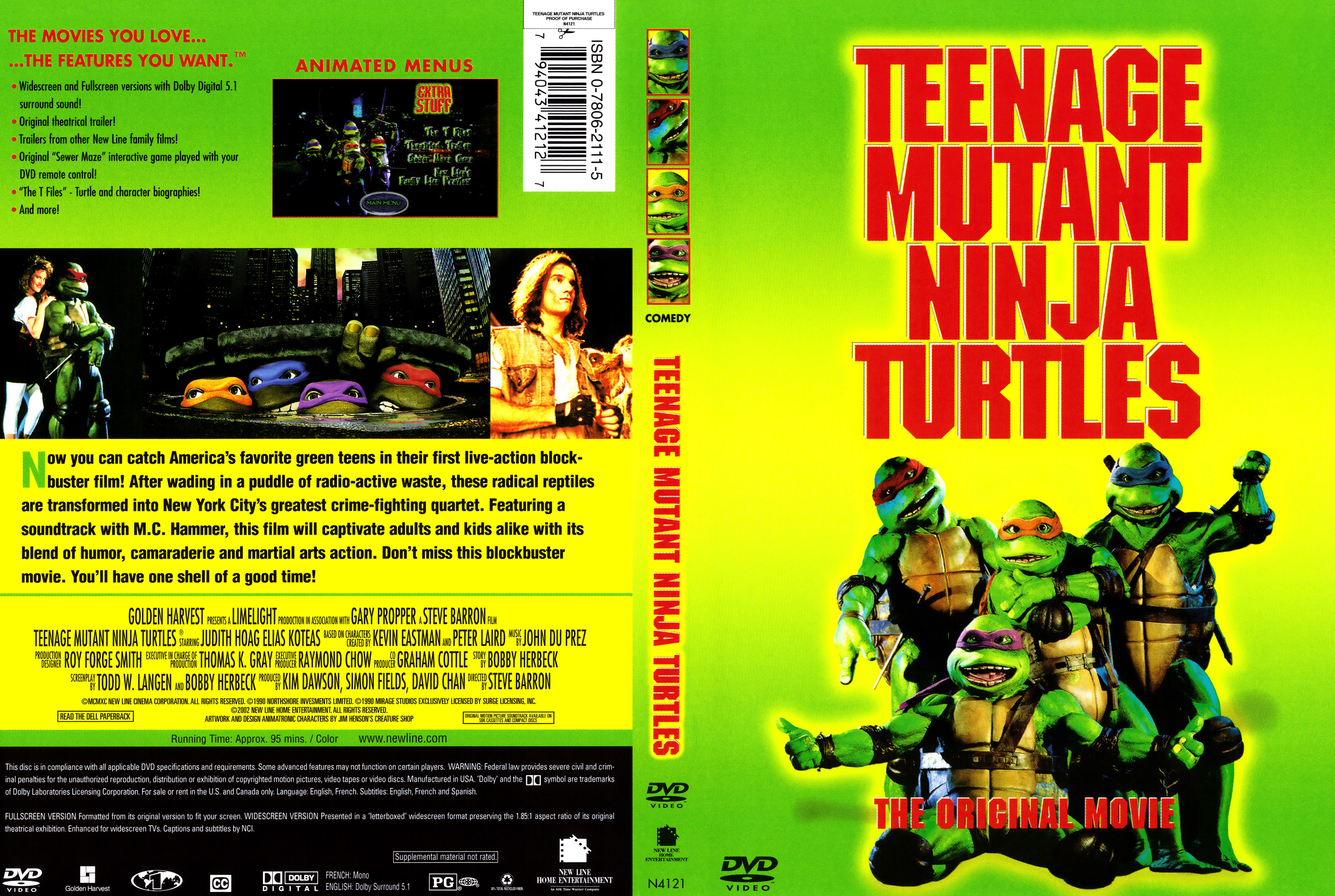 Covers Box Sk Teenage Mutant Ninja Turtles 1990 High Quality Dvd Blueray Movie
