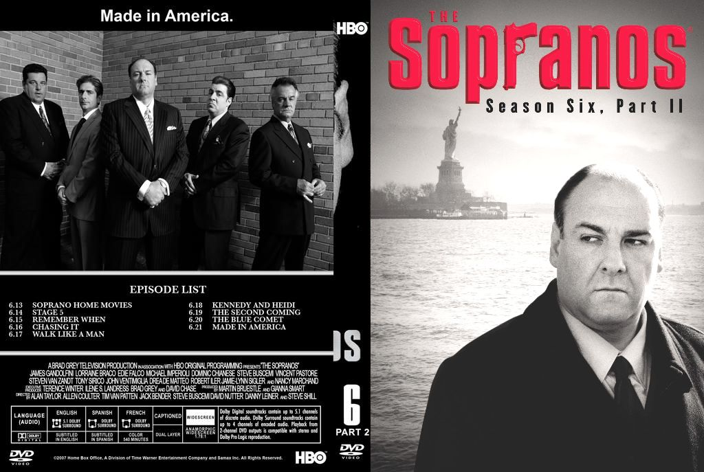 COVERS BOX SK ::: the sopranos - season 6 - part 2 - high