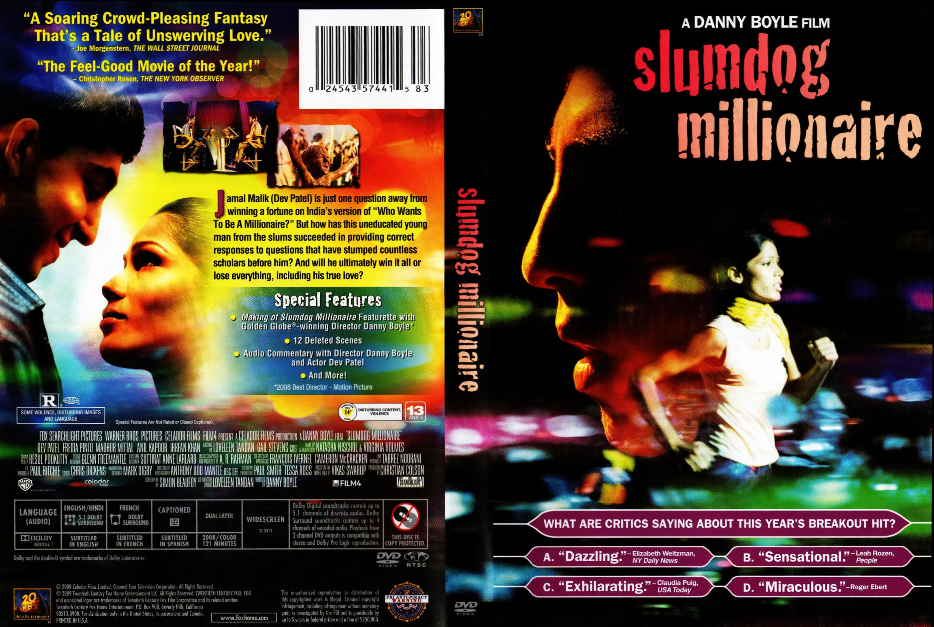 Covers Box Sk Slumdog Millionaire 2008 High Quality Dvd Blueray Movie