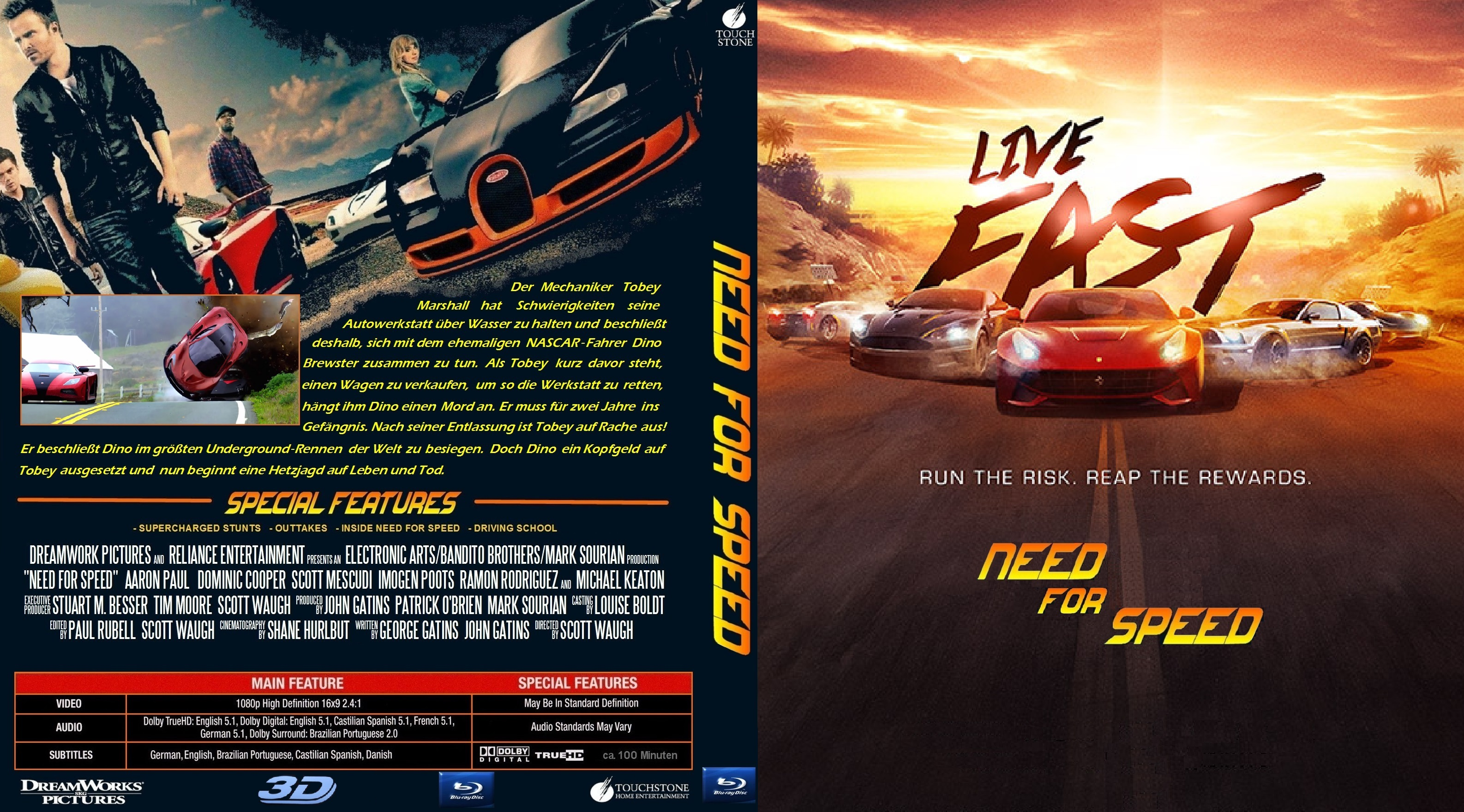Need For Speed 2014 Movie Dvd Cover – images free download