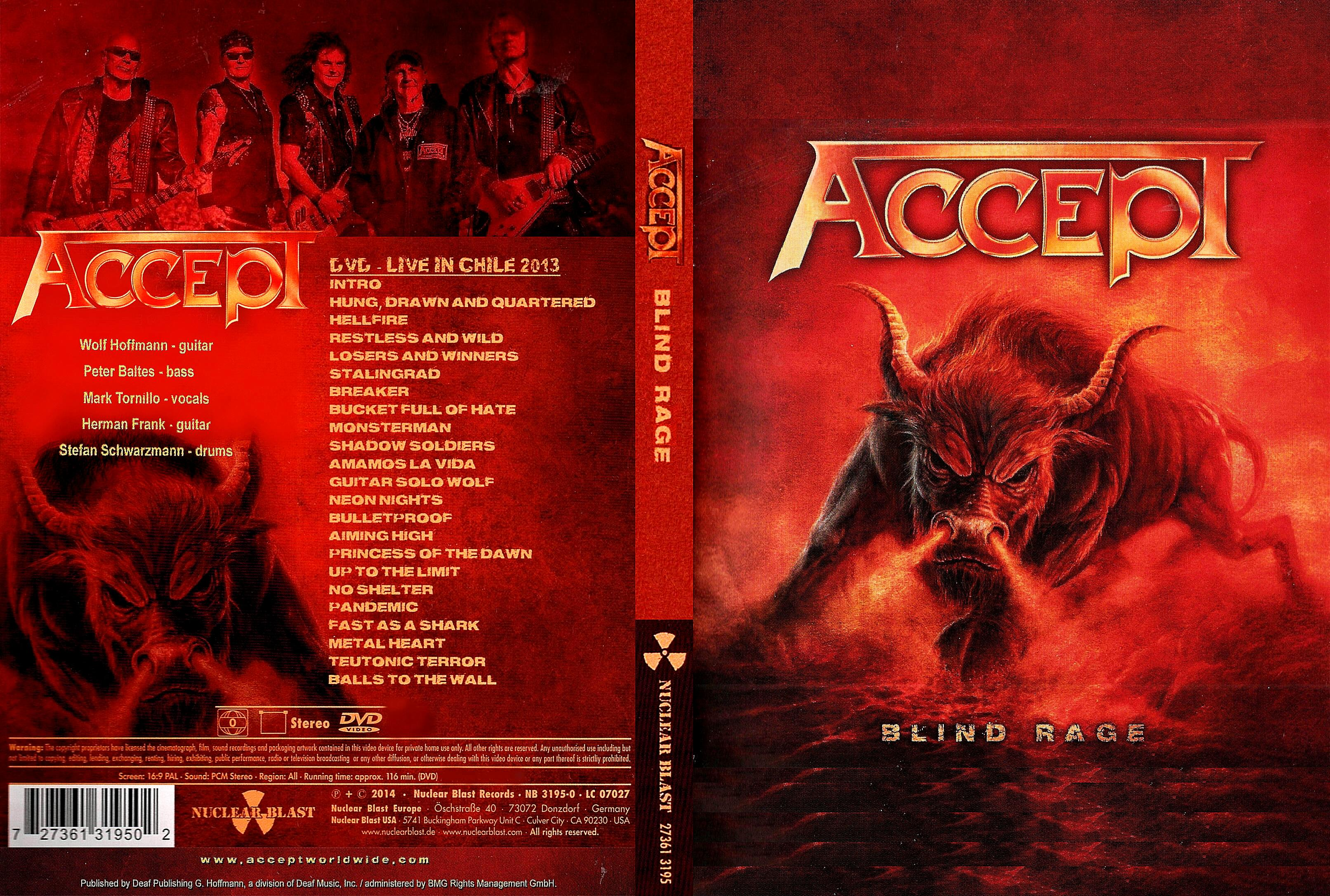 Accept - Blind Rage (Live In Chile 2013) Blu Ray