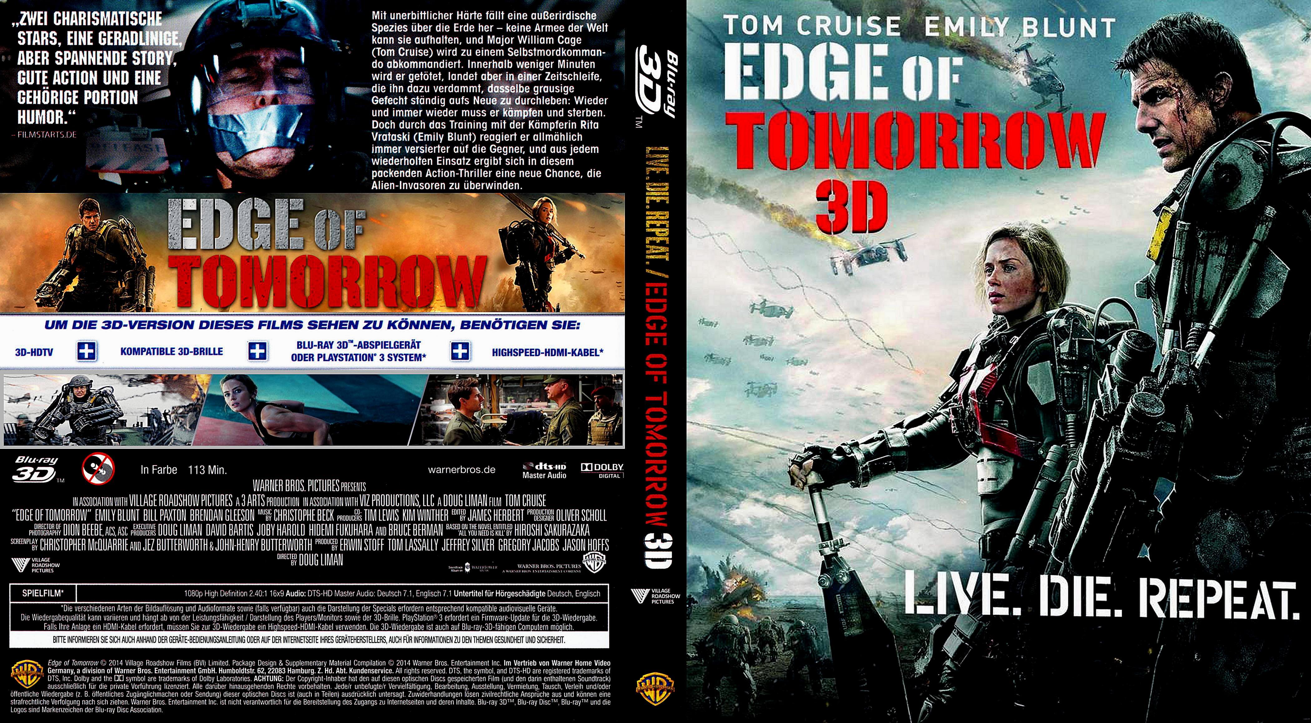 Edge Of Tomorrow Dvd Cover Edge Of Tomorrow Cover