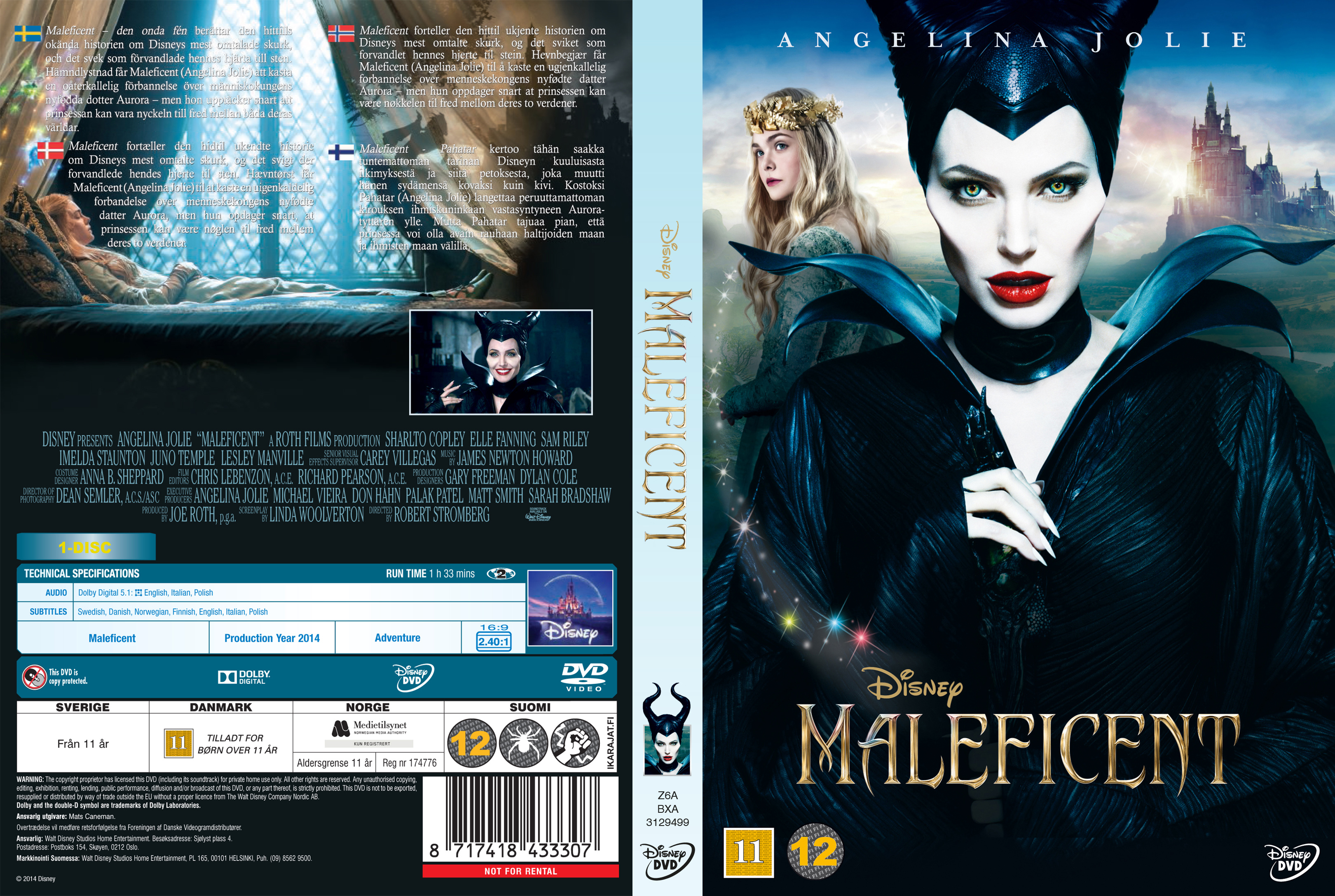 Covers Box Sk Maleficent Nordic High Quality Dvd