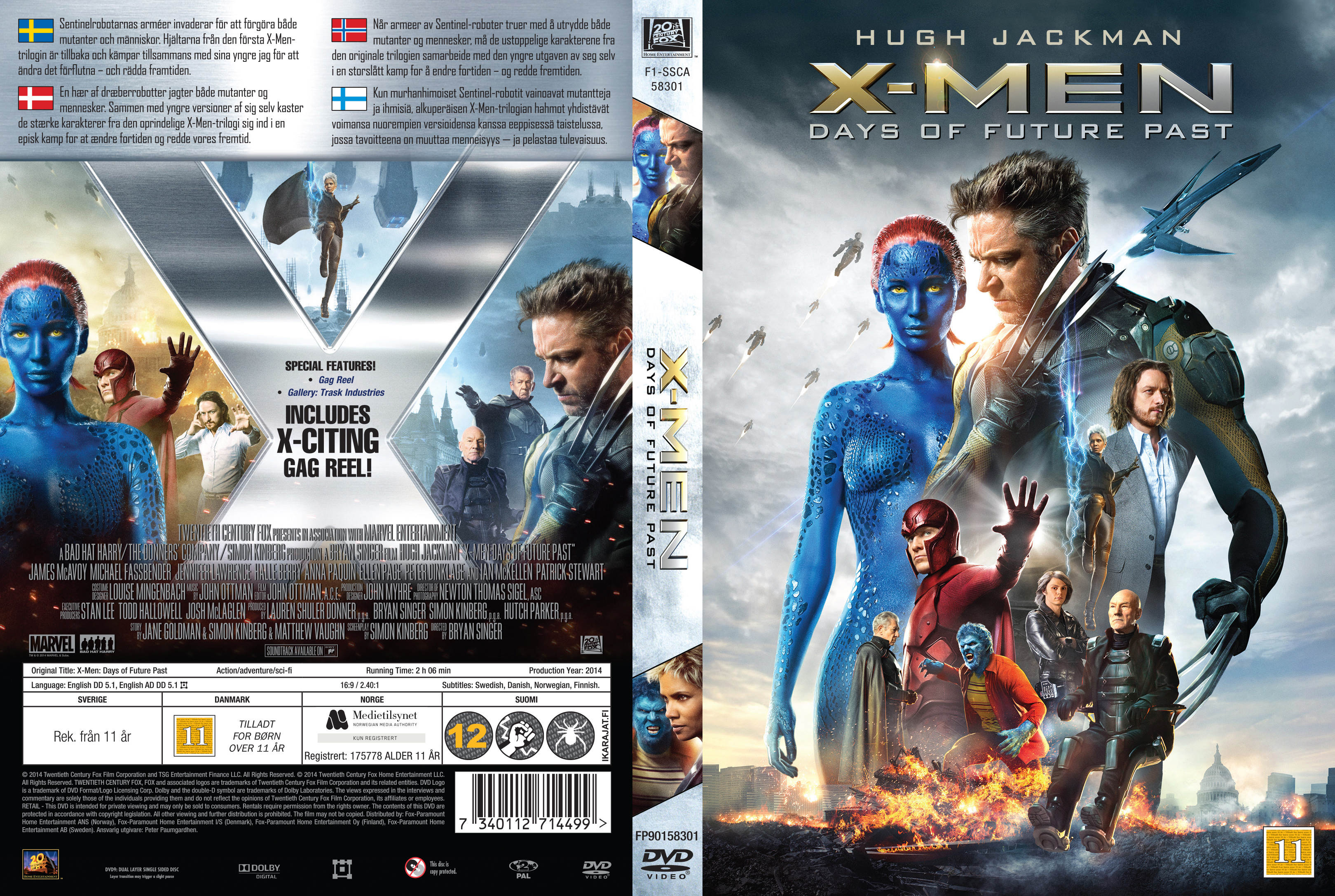 X Men Dvd Cover: Days Of Future Past (Nordic