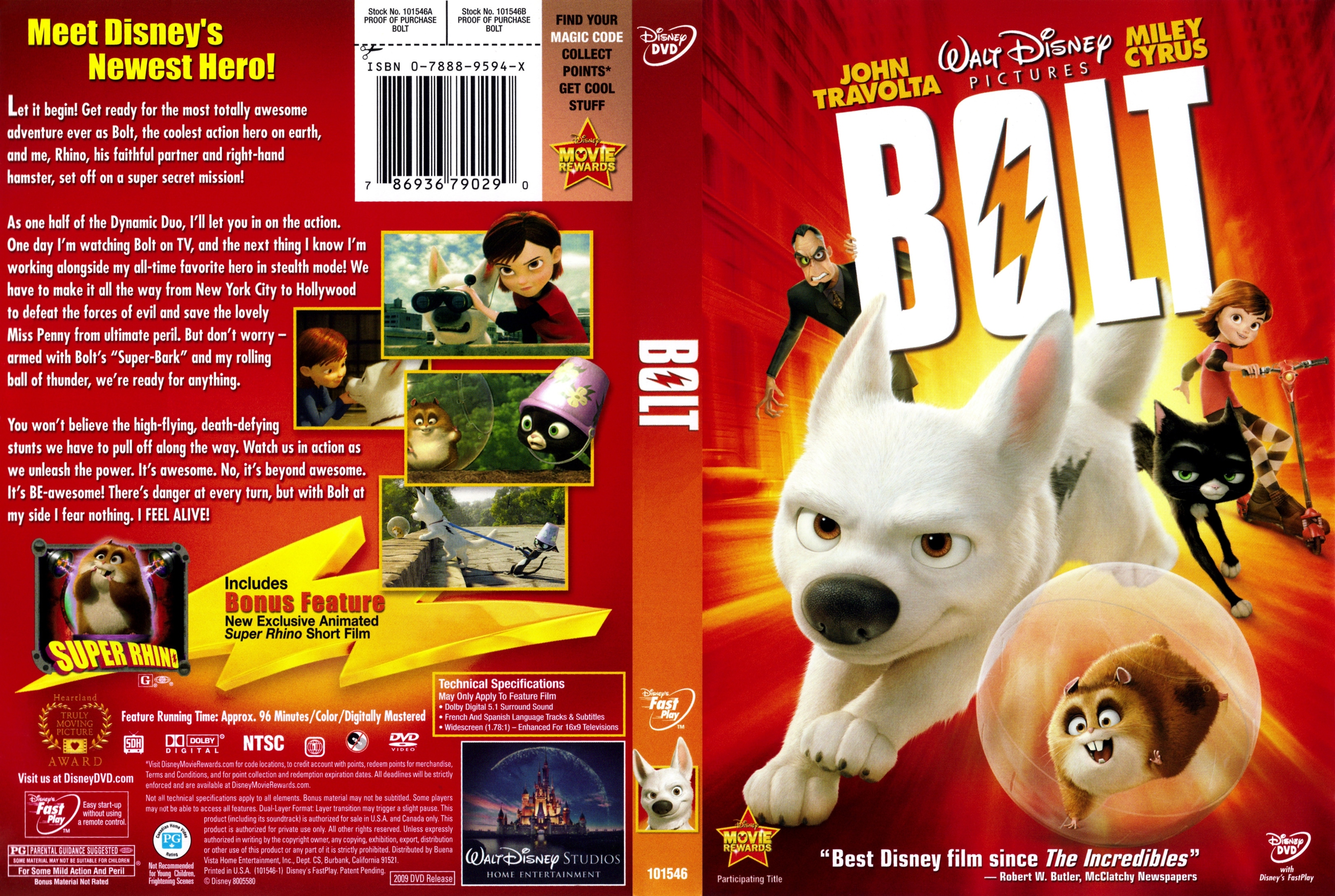 Covers Box Sk Bolt 2008 High Quality Dvd Blueray Movie