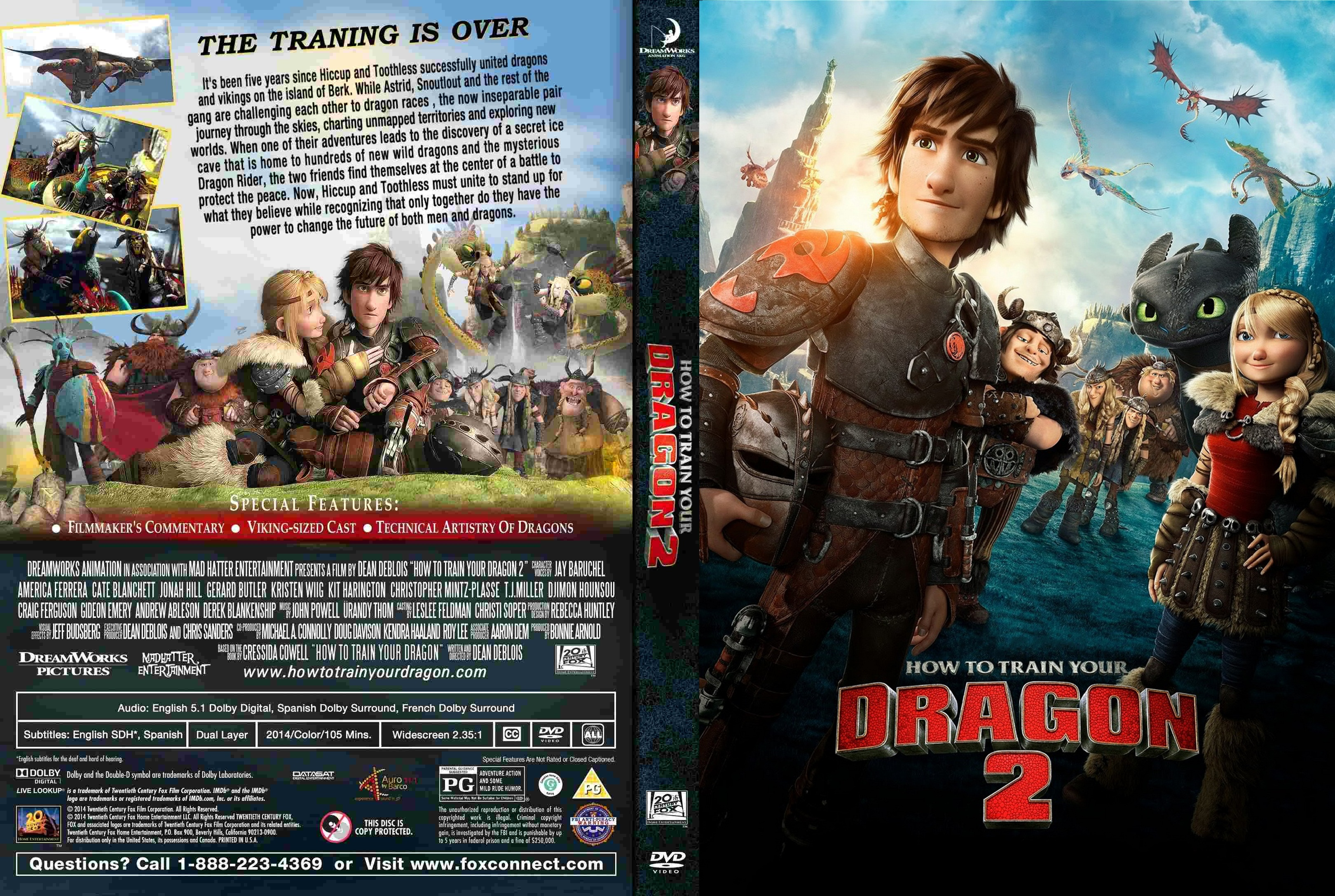 Coversx how to train your dragon 2 high quality dvd cover has been resized ccuart Gallery