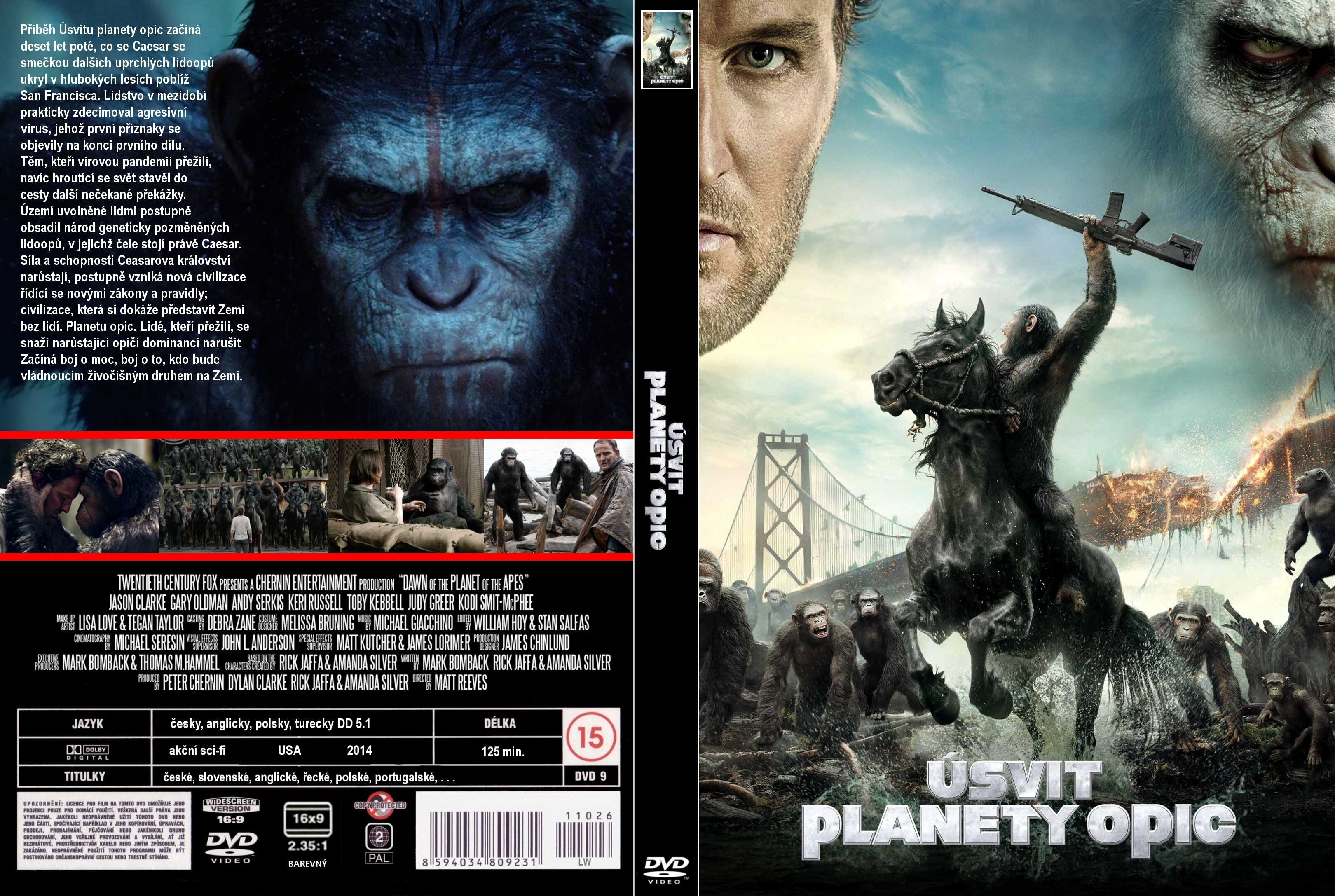 Covers Box Sk Dawn Of The Planet Of The Apes 2014 High Quality Dvd Blueray Movie