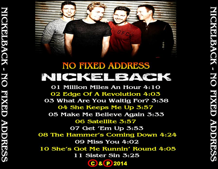 nickelback no fixed address album download