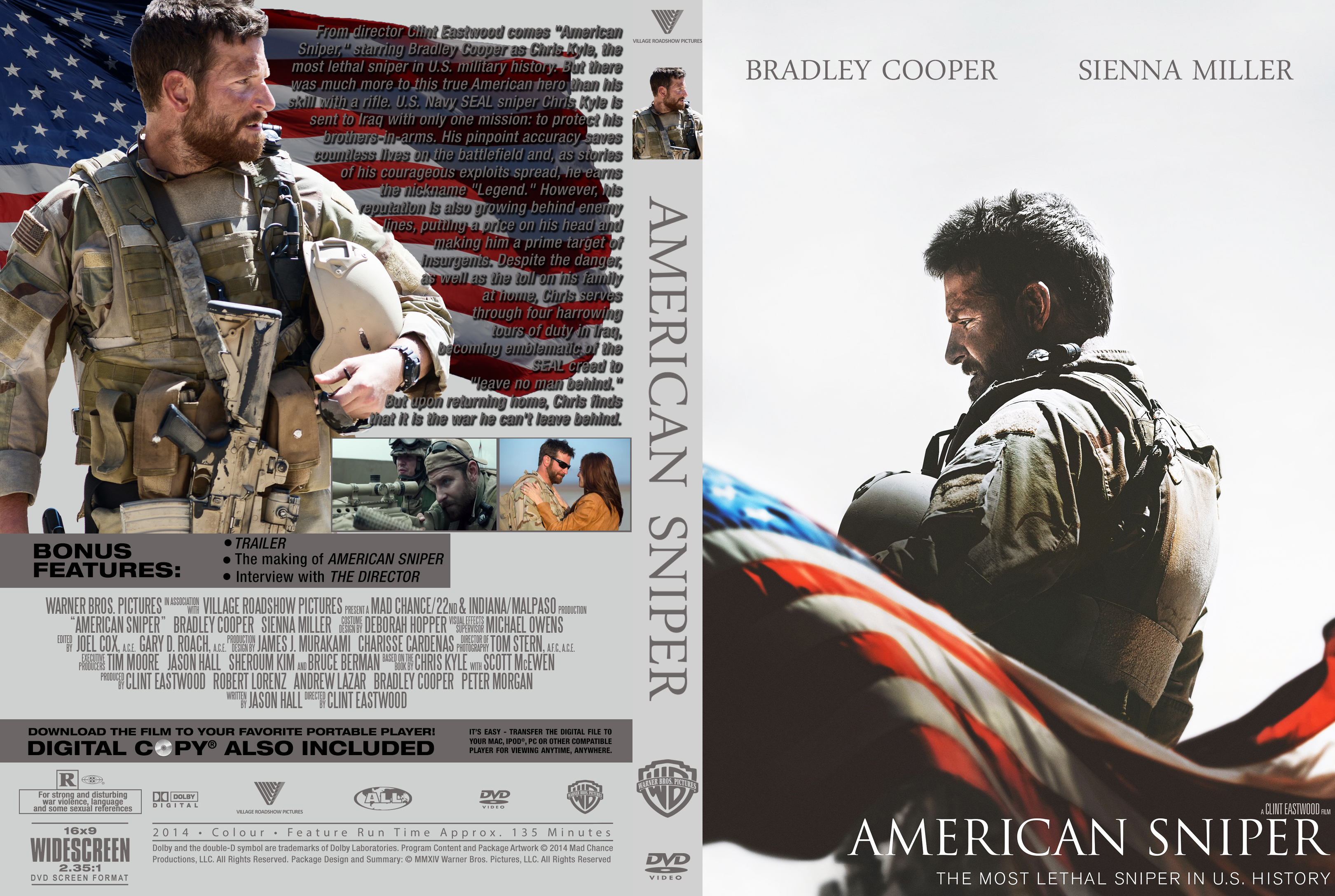 COVERS BOX SK ::: american sniper (2014) - high quality DVD