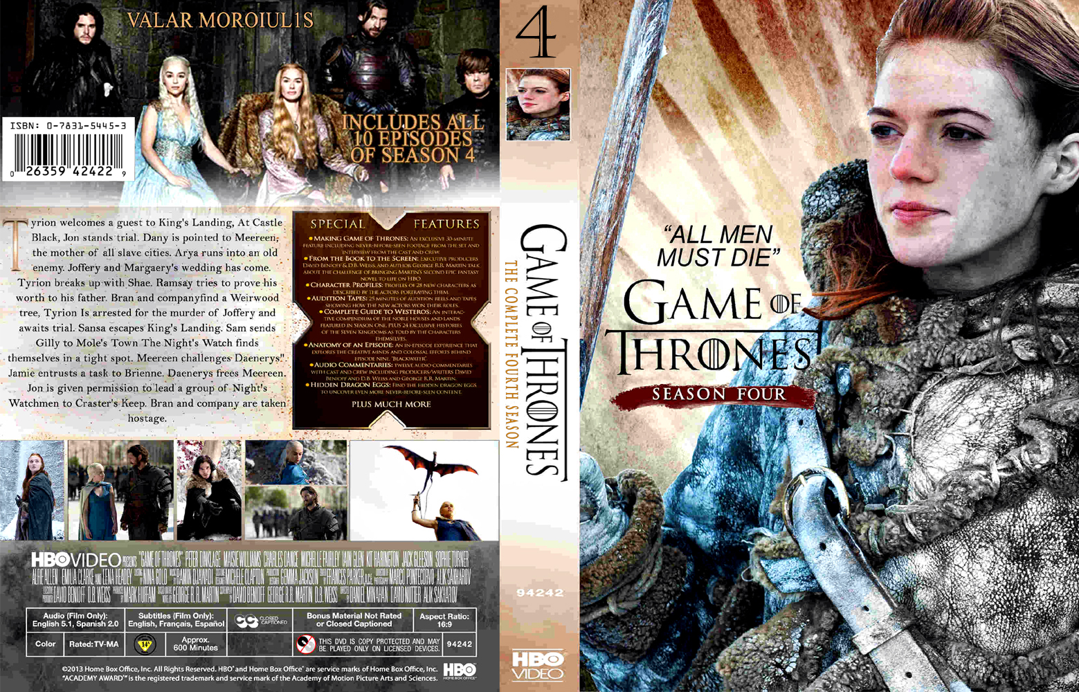 Game Of Trone Season 1 Dvd Cover: COVERS.BOX.SK ::: Game Of Thrones Season 4 DVD